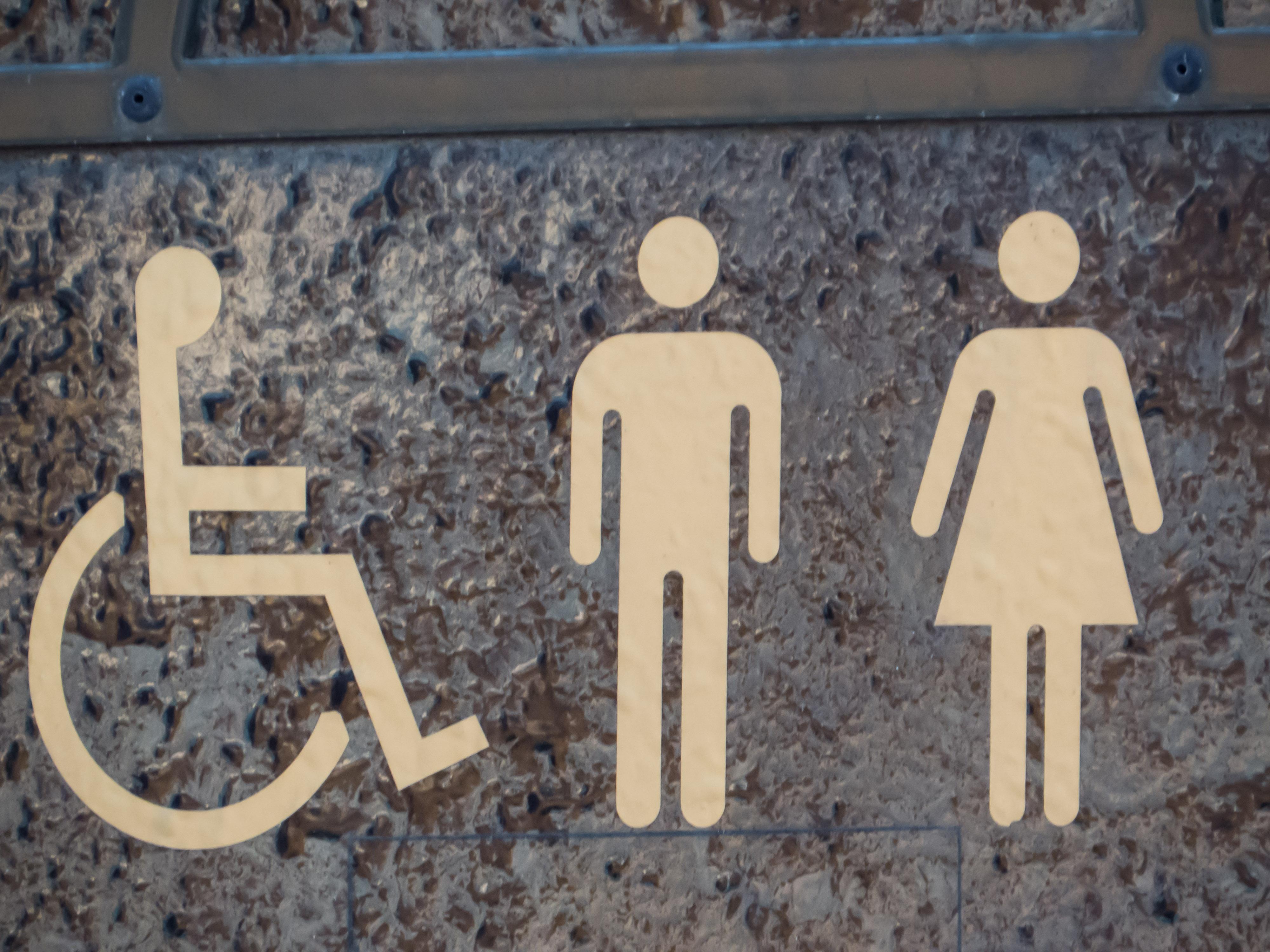 Toilet sign, Board, Lavatory, Mark, New, HQ Photo