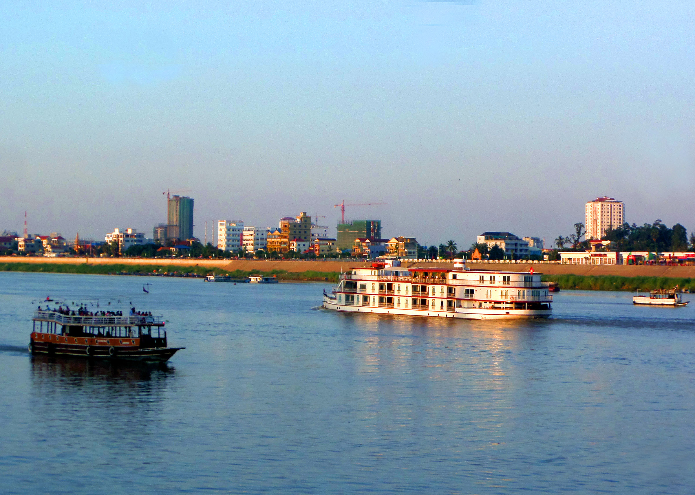 Tonle Sap - Mekong River, Boats, Cambodia, Cruise, Mekong, HQ Photo