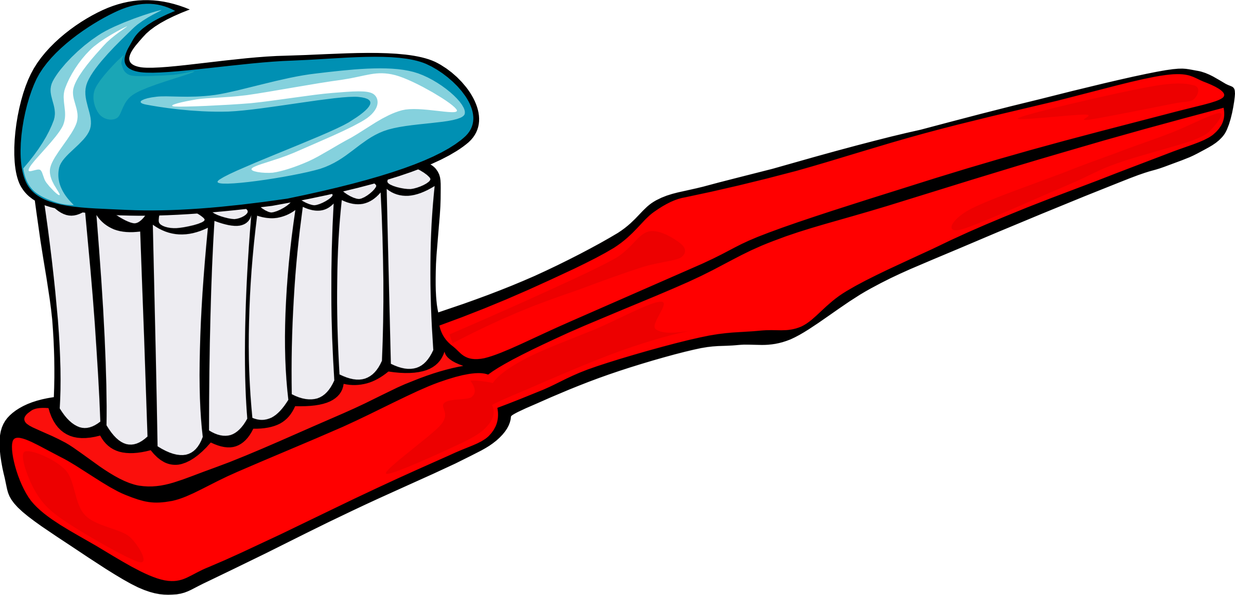 Clipart - Toothbrush and toothpaste