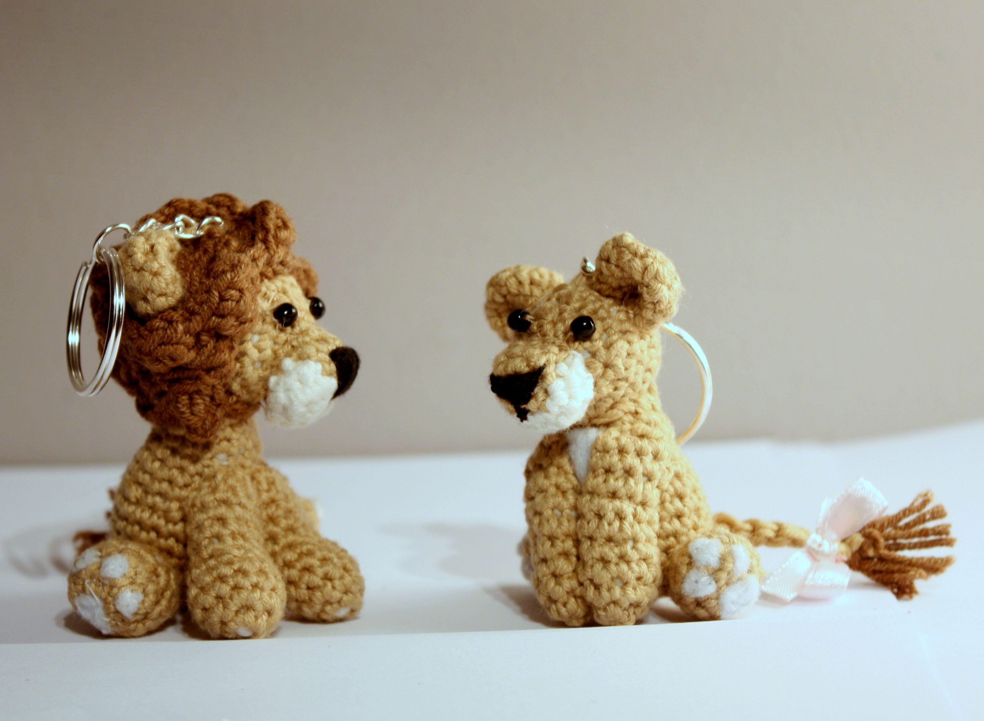 Amigurumi Lion / Key - Lions / Szydełkowy lew i lwica #amigurumi ...