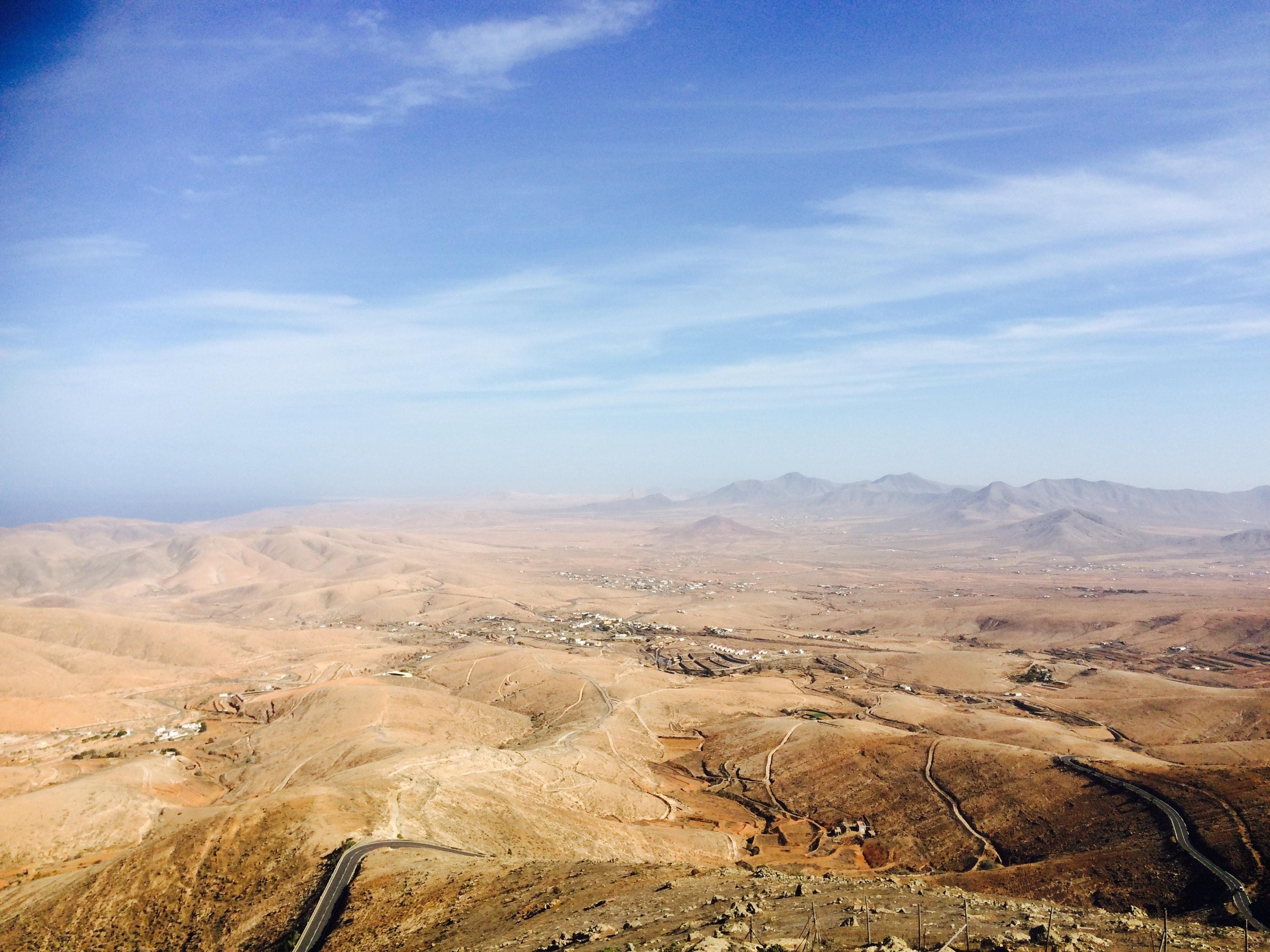 Top view of desert photo