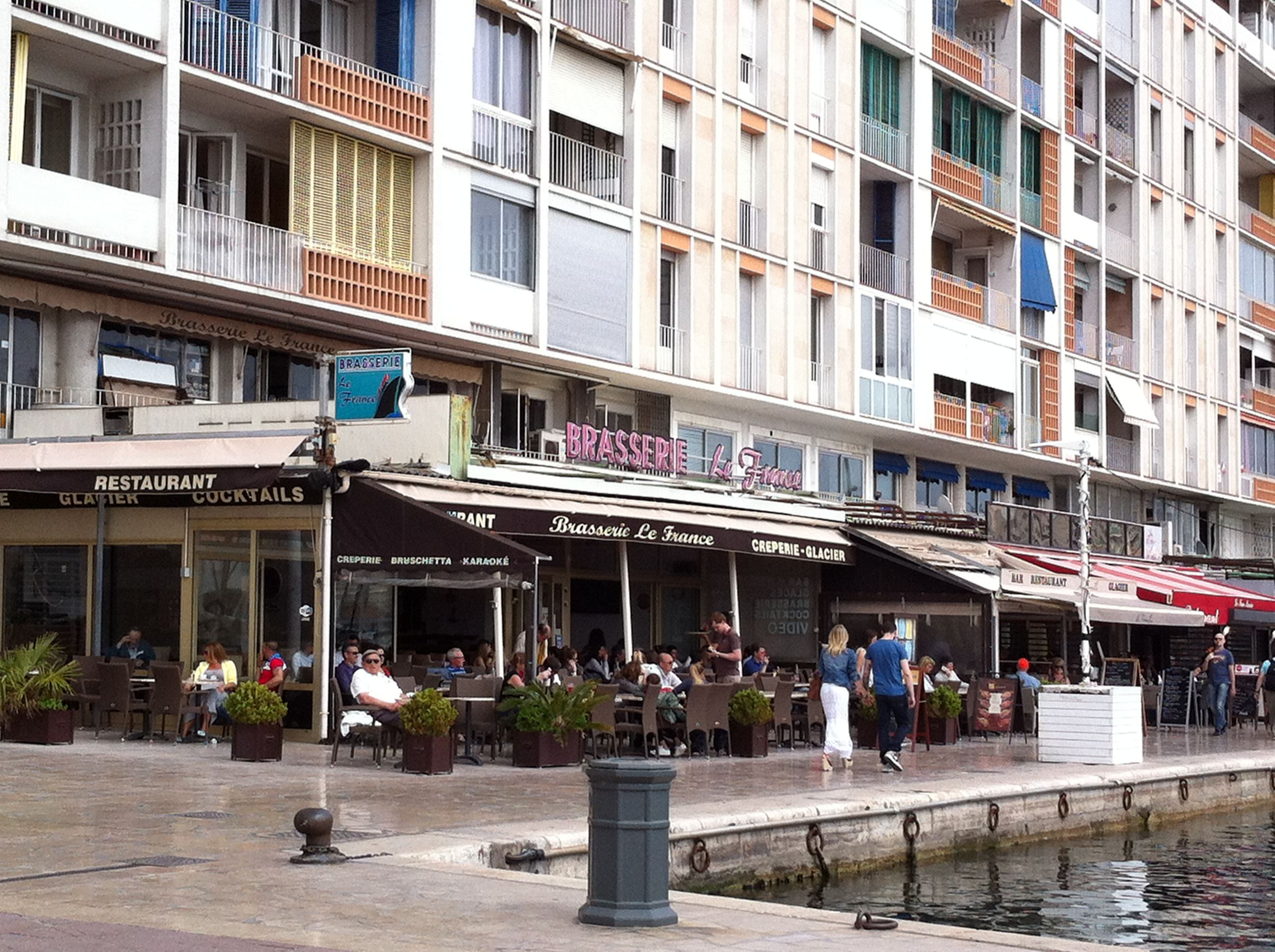 Waterfront restaurants at marina at Toulon, France | Been There ...