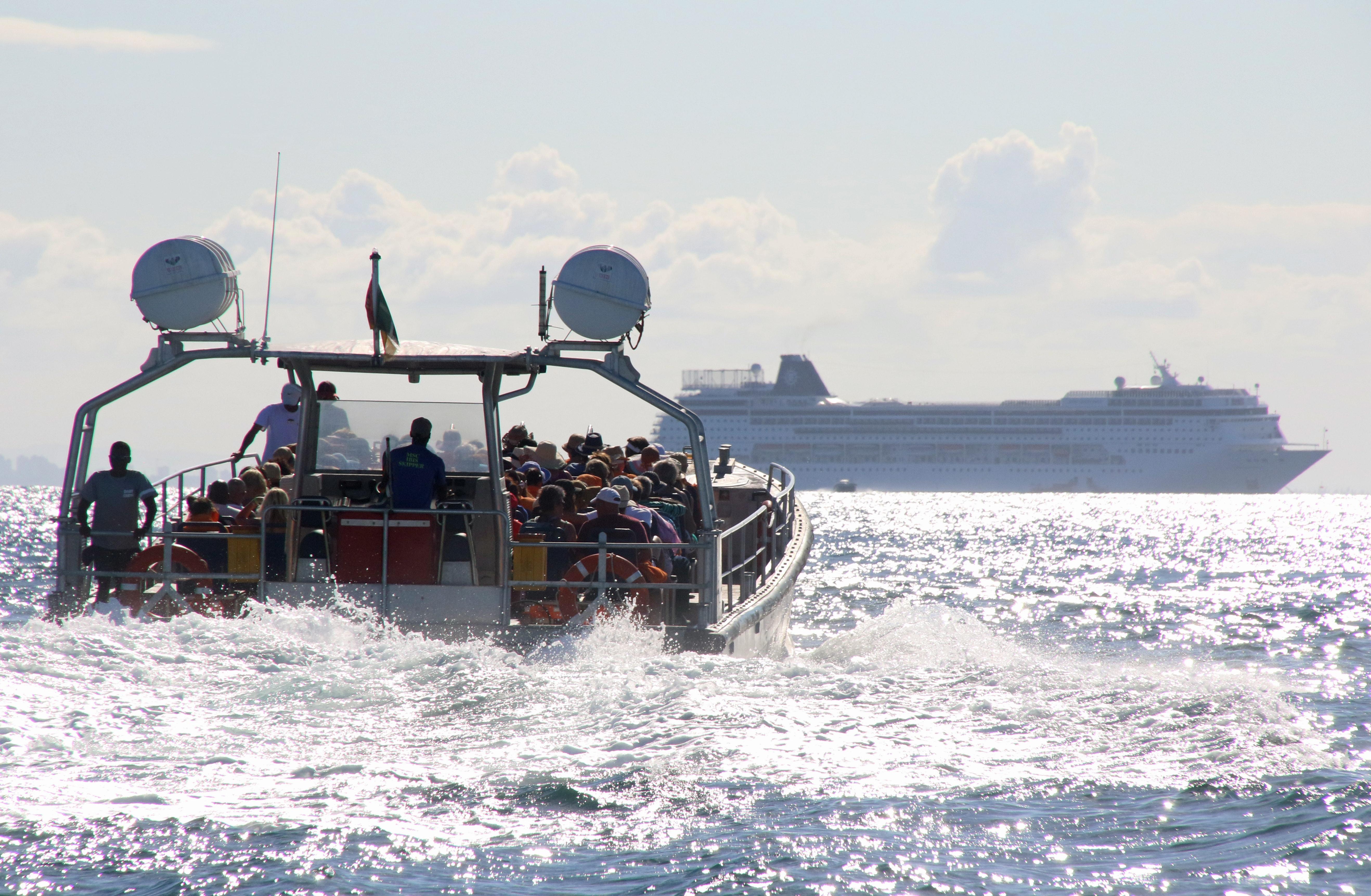Touristic boat in the sea photo