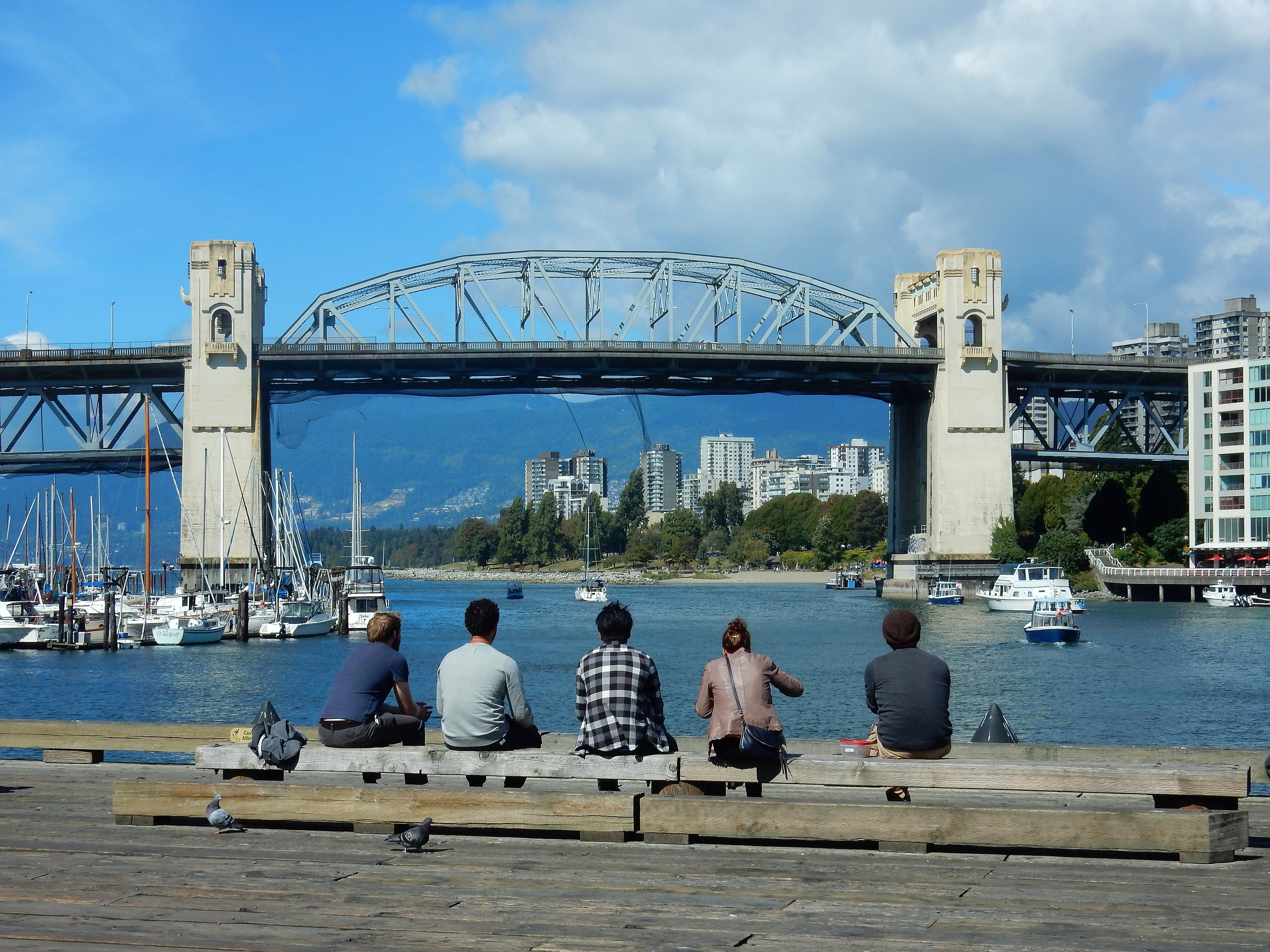 Tourists at harbor photo
