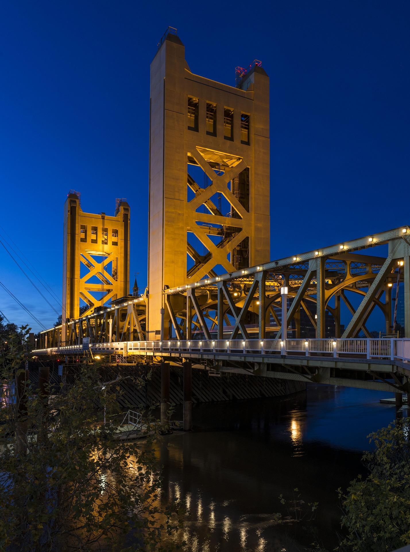 Tower Bridge, Architecture, Bridge, Channel, Construction, HQ Photo