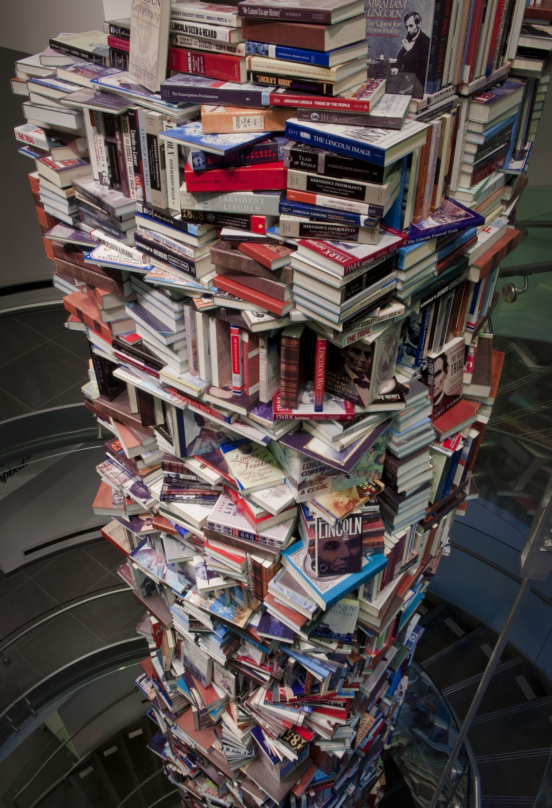 Forget Lincoln Logs: A Tower Of Books To Honor Abe : NPR