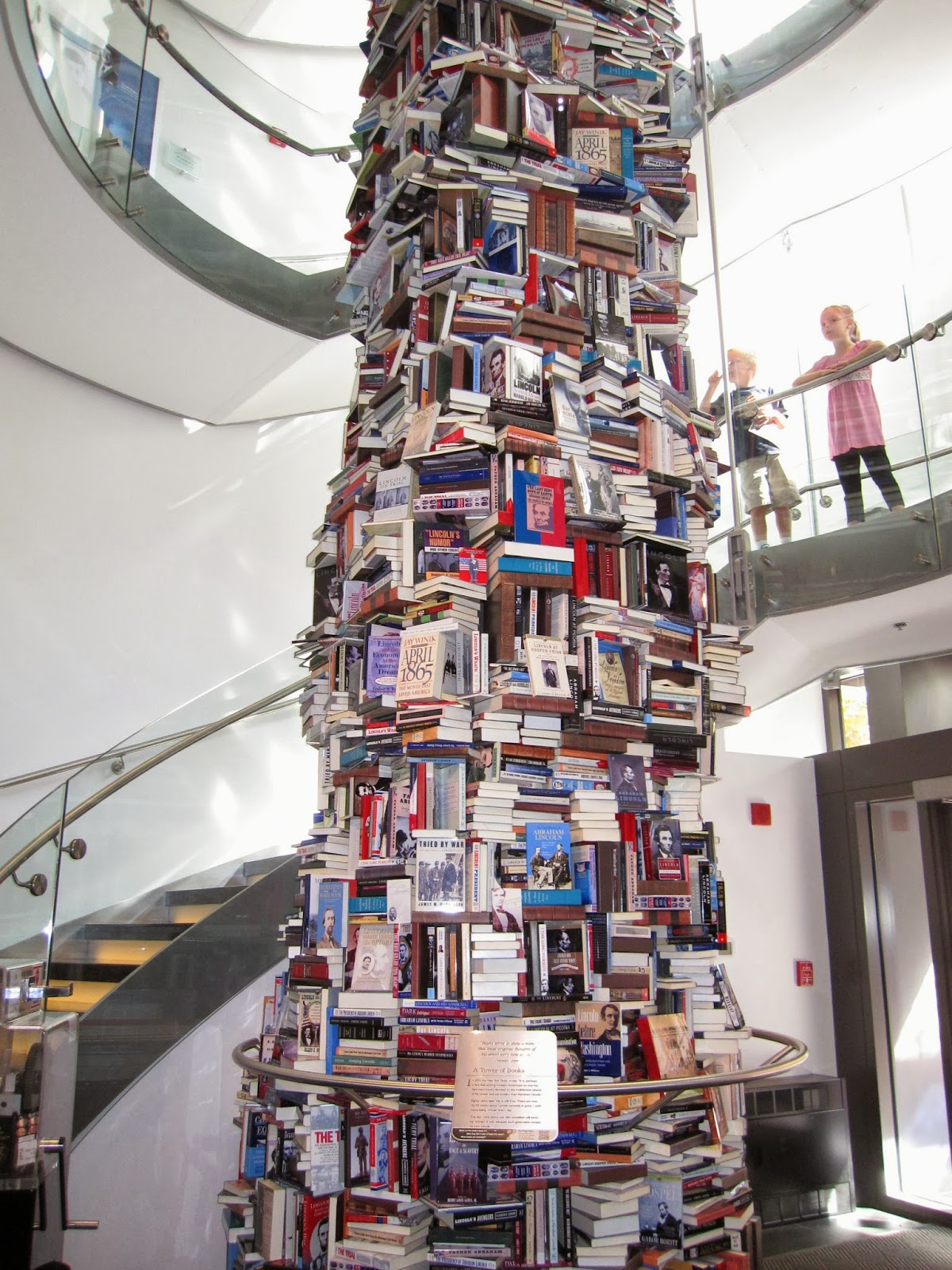 Live Your Poem...: THE NOT-SO-LEANING TOWER OF BOOKS