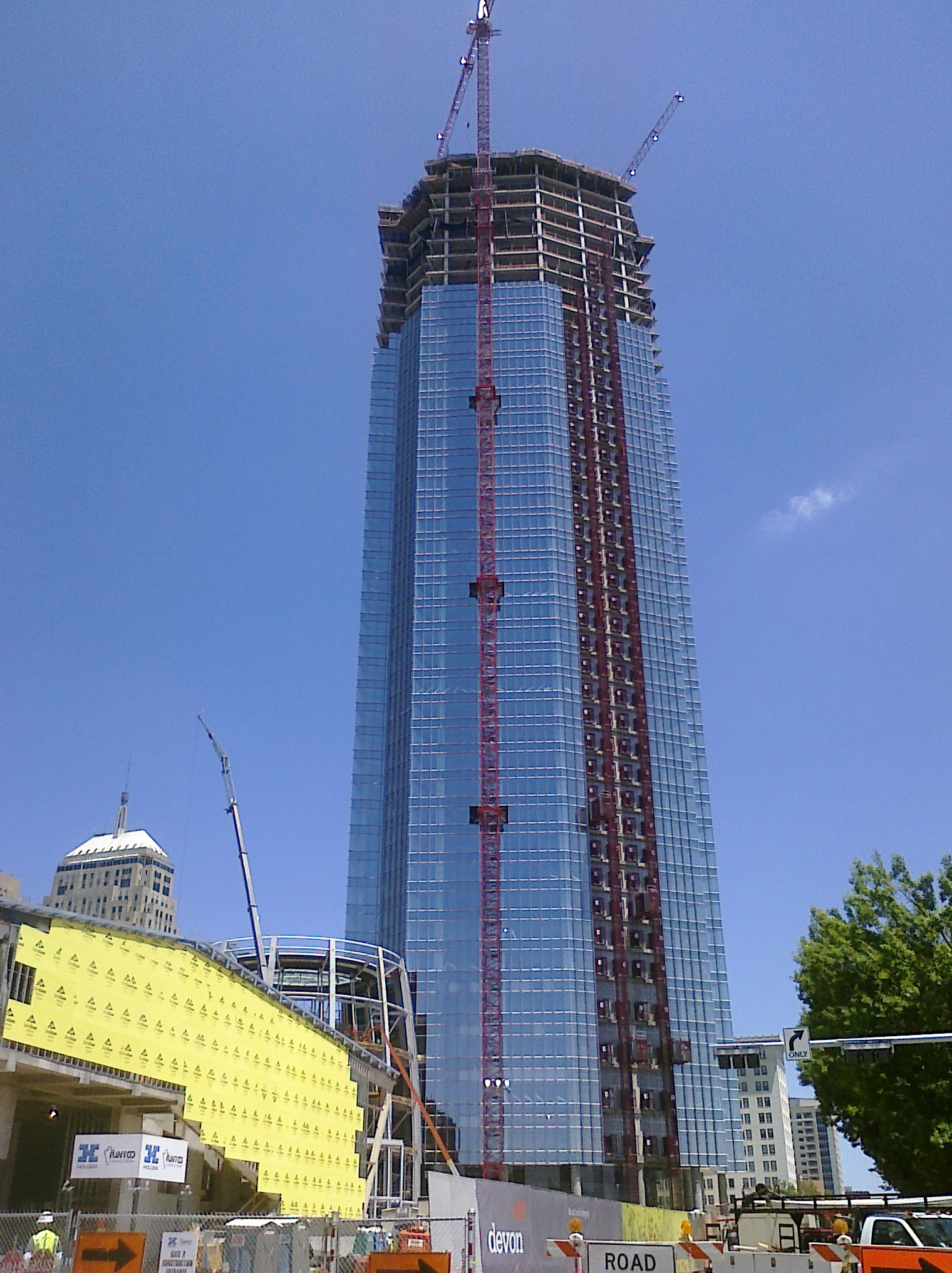 Tower under construction photo