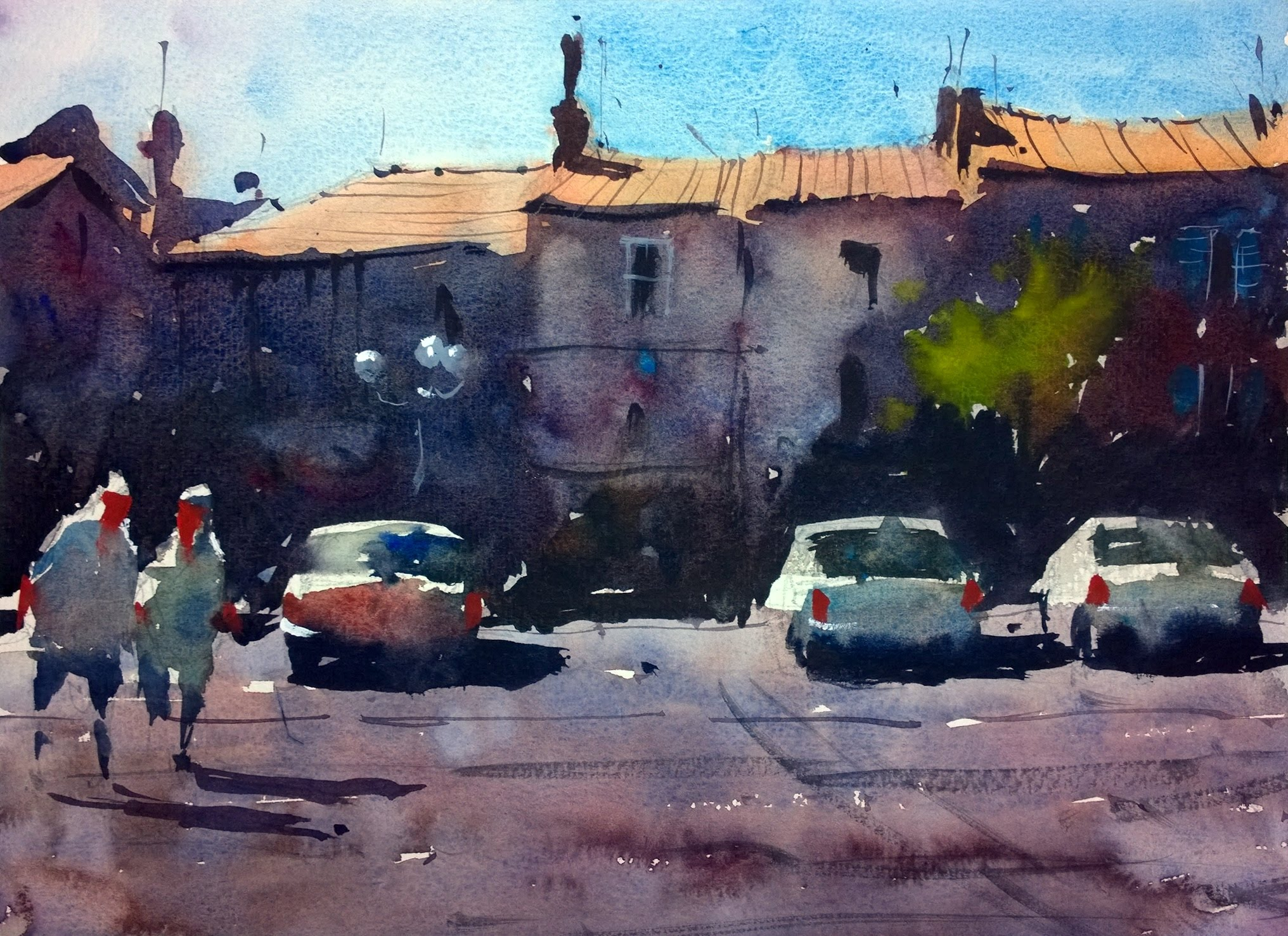 Watercolour demonstration by Tim Wilmot - How to paint a French Town ...