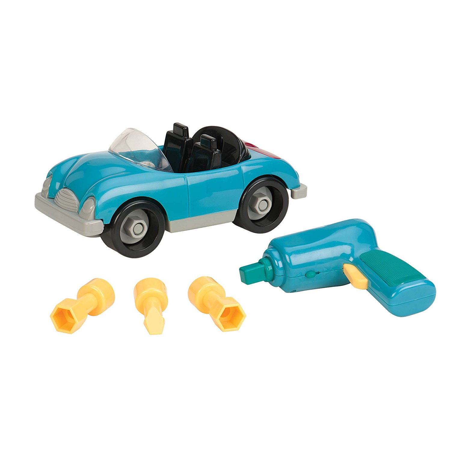 Amazon.com: Battat Take-A-Part Toy Vehicles Roadster Sky Blue: Toys ...