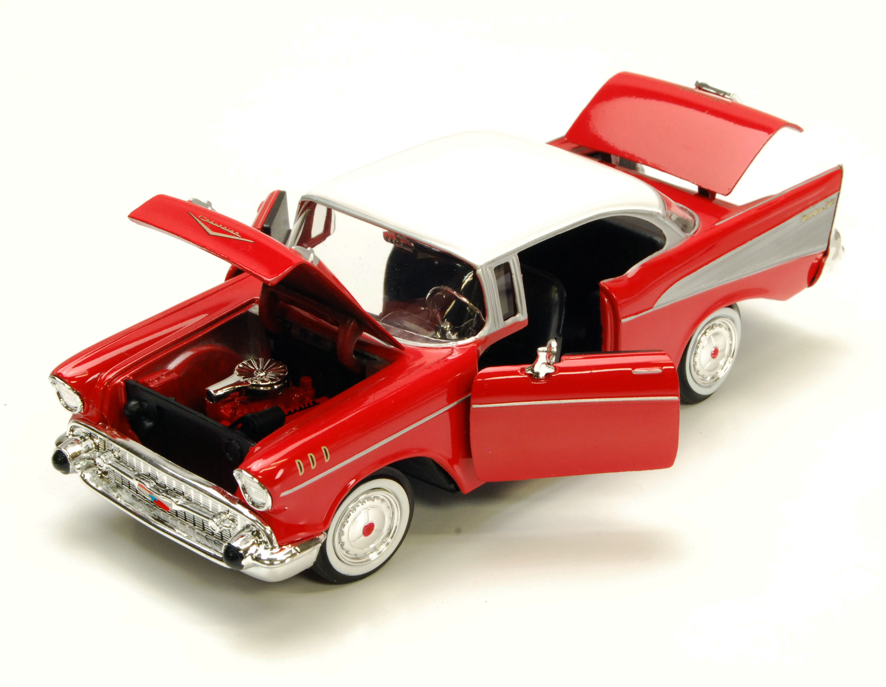 1957 Chevy Bel Air, Red - Showcasts 73228 - 1/24 scale diecast model ...