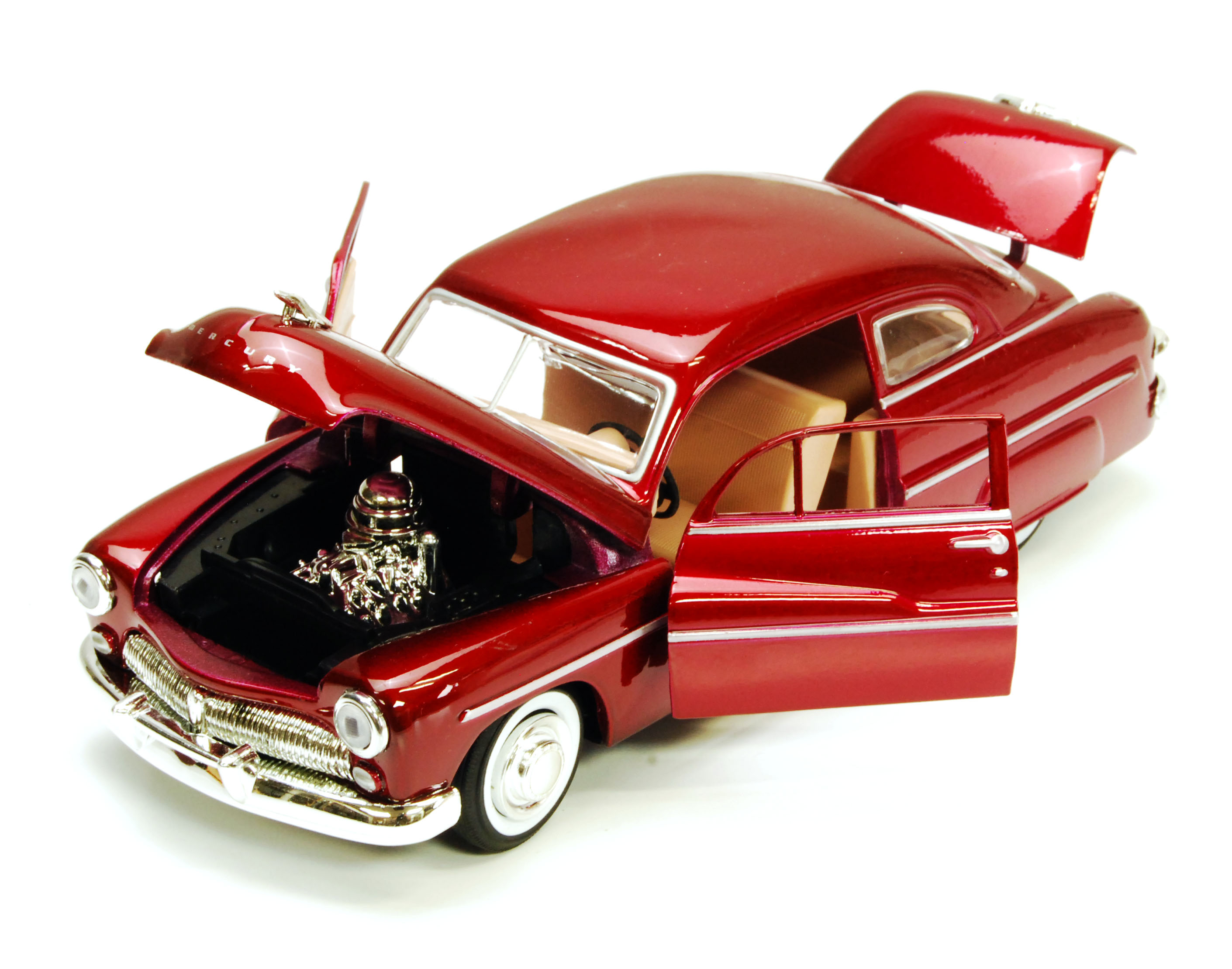 1949 Mercury Eight Coupe, Red - Motormax 73225 - 1/24 scale diecast ...