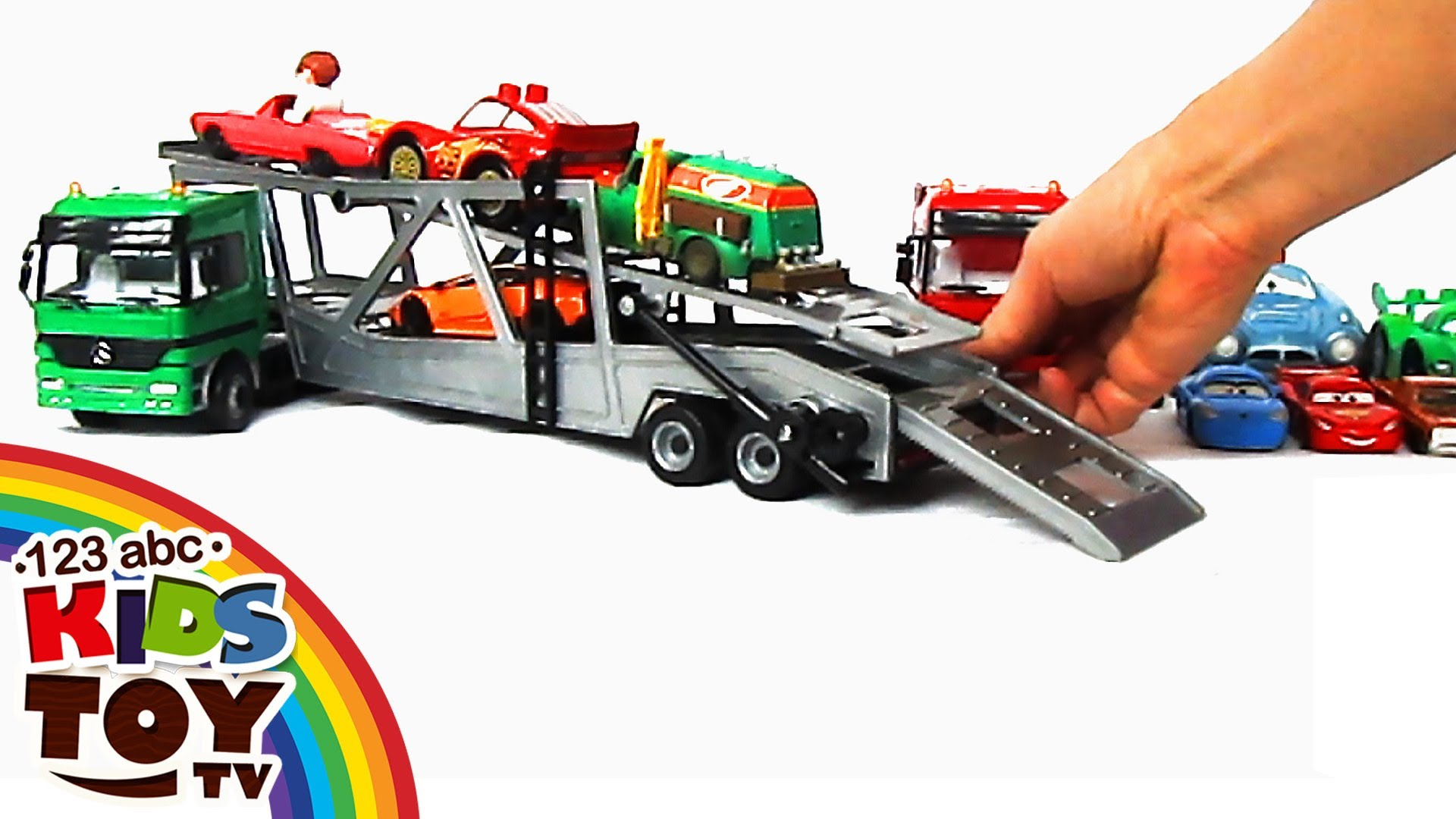 Сar transporters Car for KIDS. TOYS = ☺123abc Kids Toy TV ...
