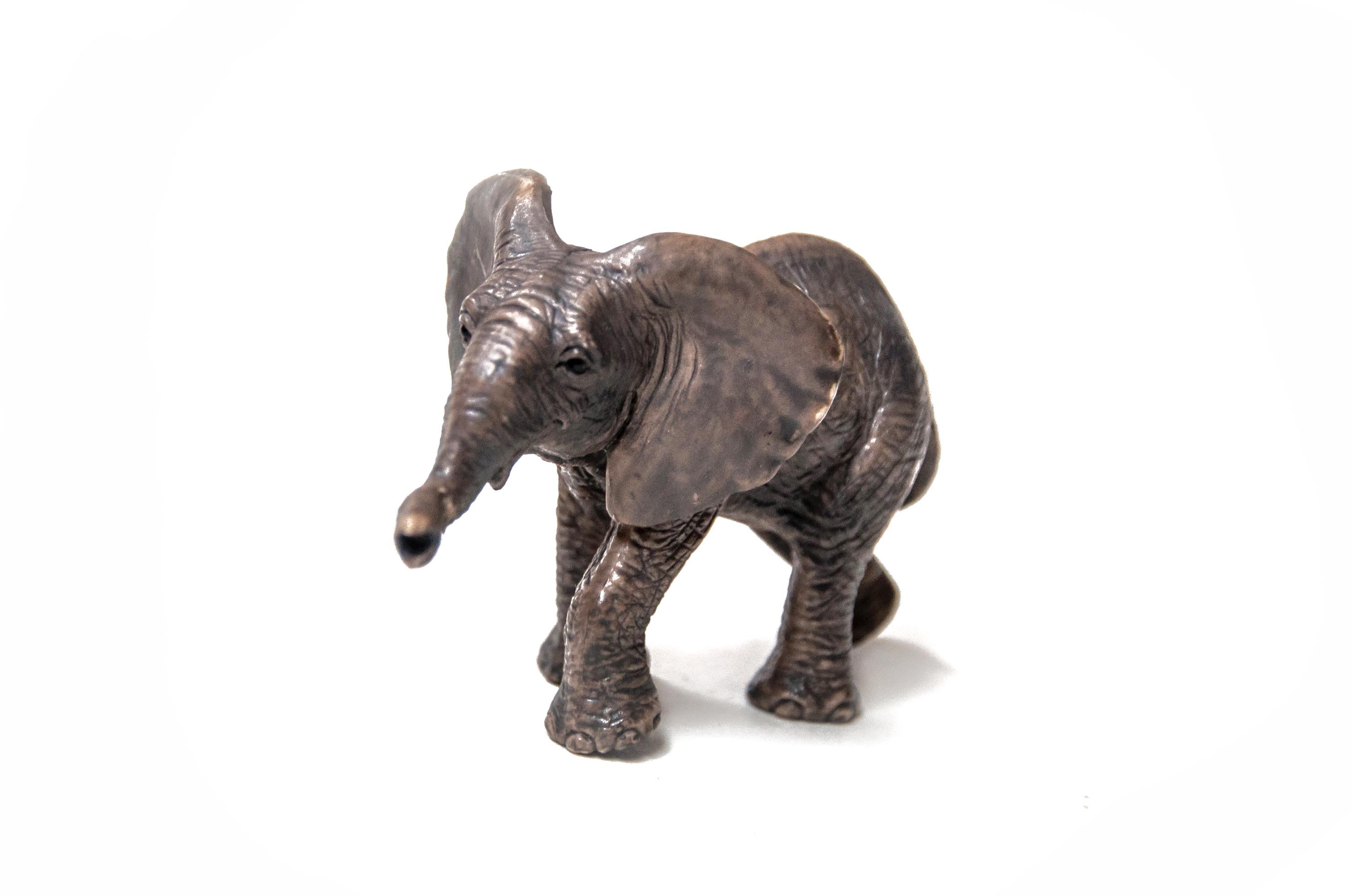 Toy Elephant on White Background, Animal, Tusk, Trunk, Toy, HQ Photo