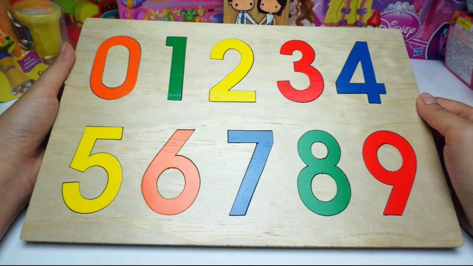 Learn Numbers for Children Wood Toy 123 - YouTube