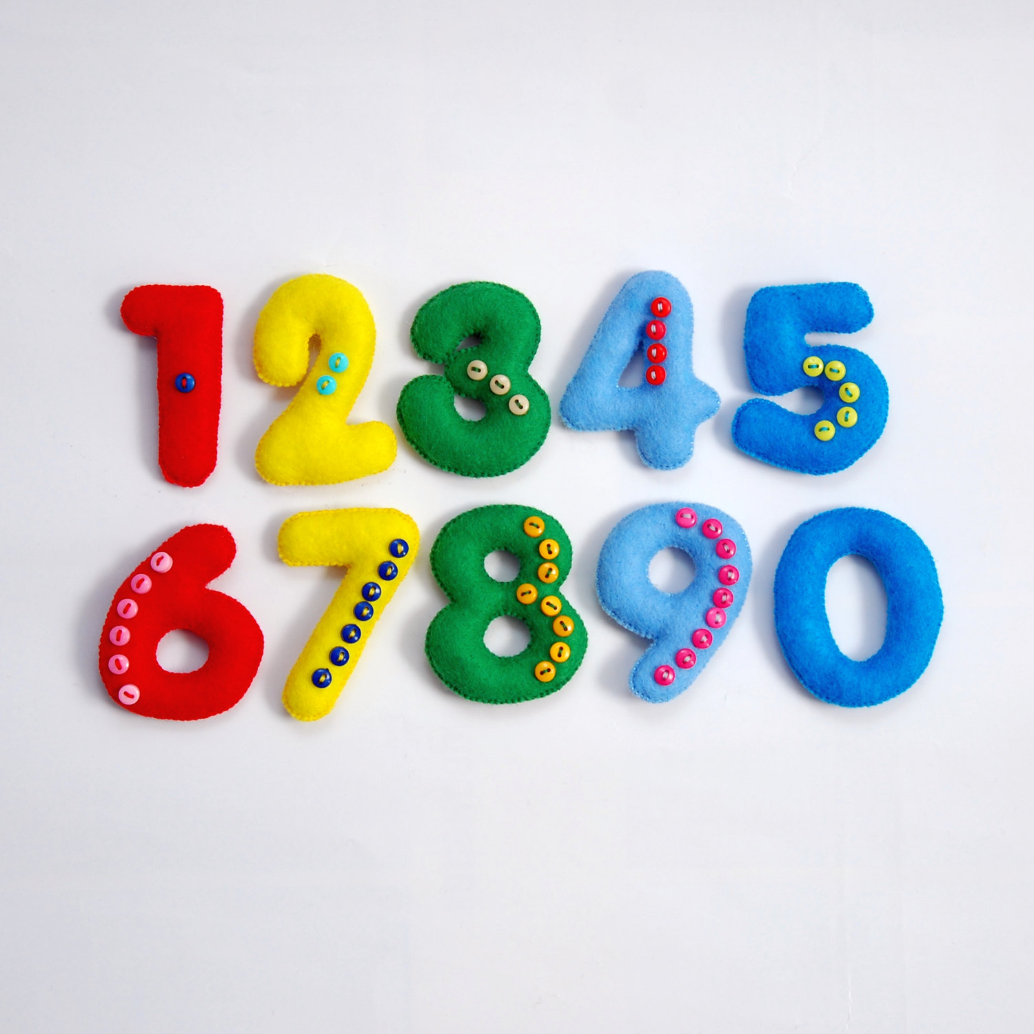 Numbers set Educational toy Learning numbers Felt numbers