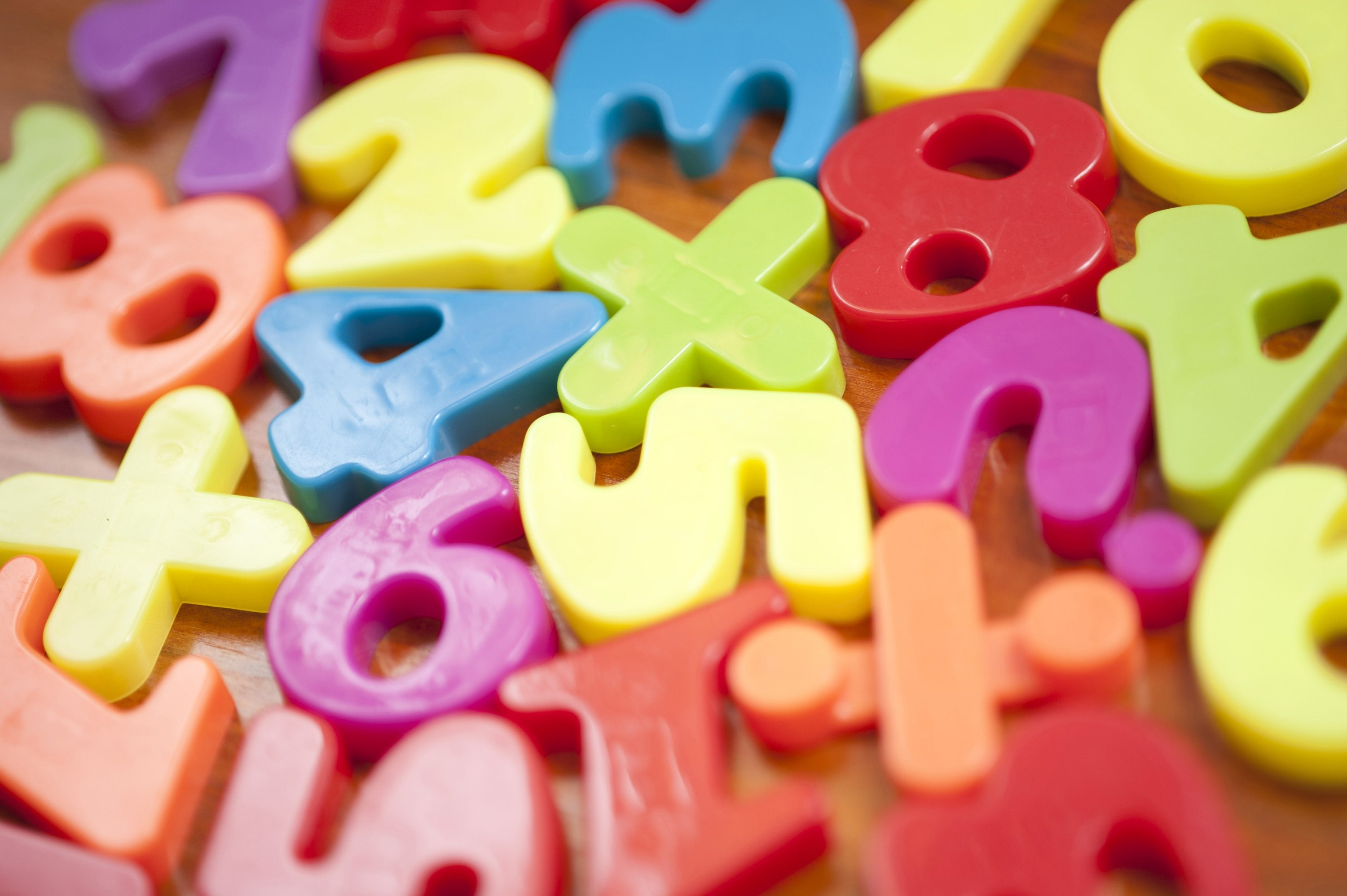 Free image of Colourful toy numbers