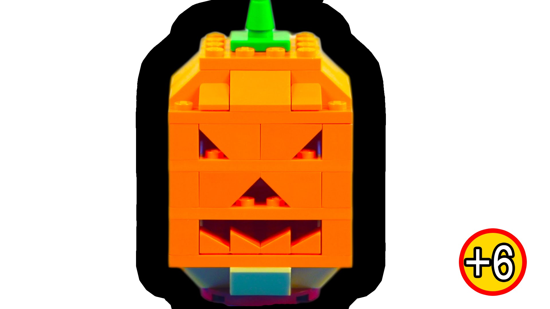 LEGO Halloween Jack O Lantern Pumpkin Toy Review - YouTube