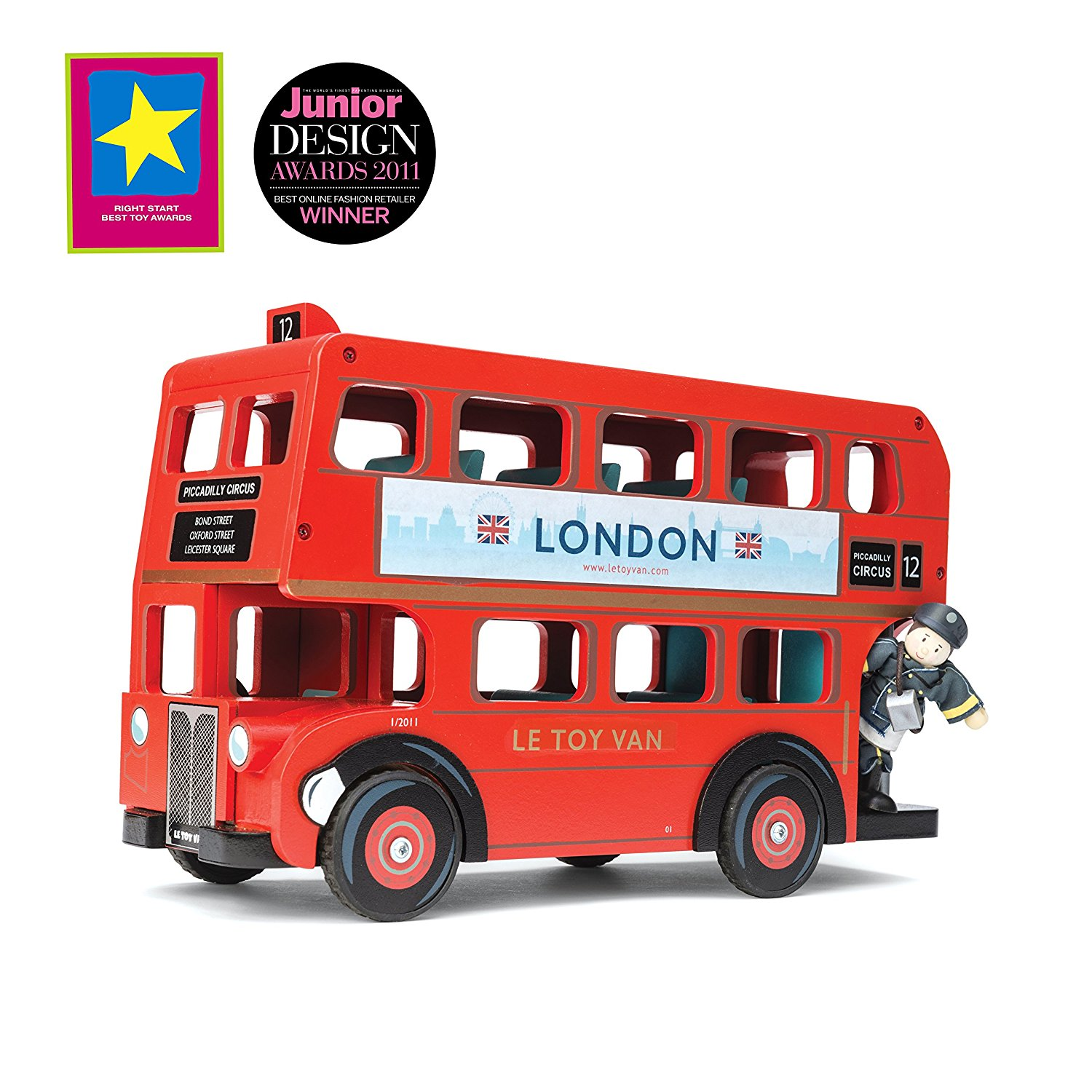 Amazon.com: Le Toy Van TV469 London Bus With Driver Playset: Toys ...