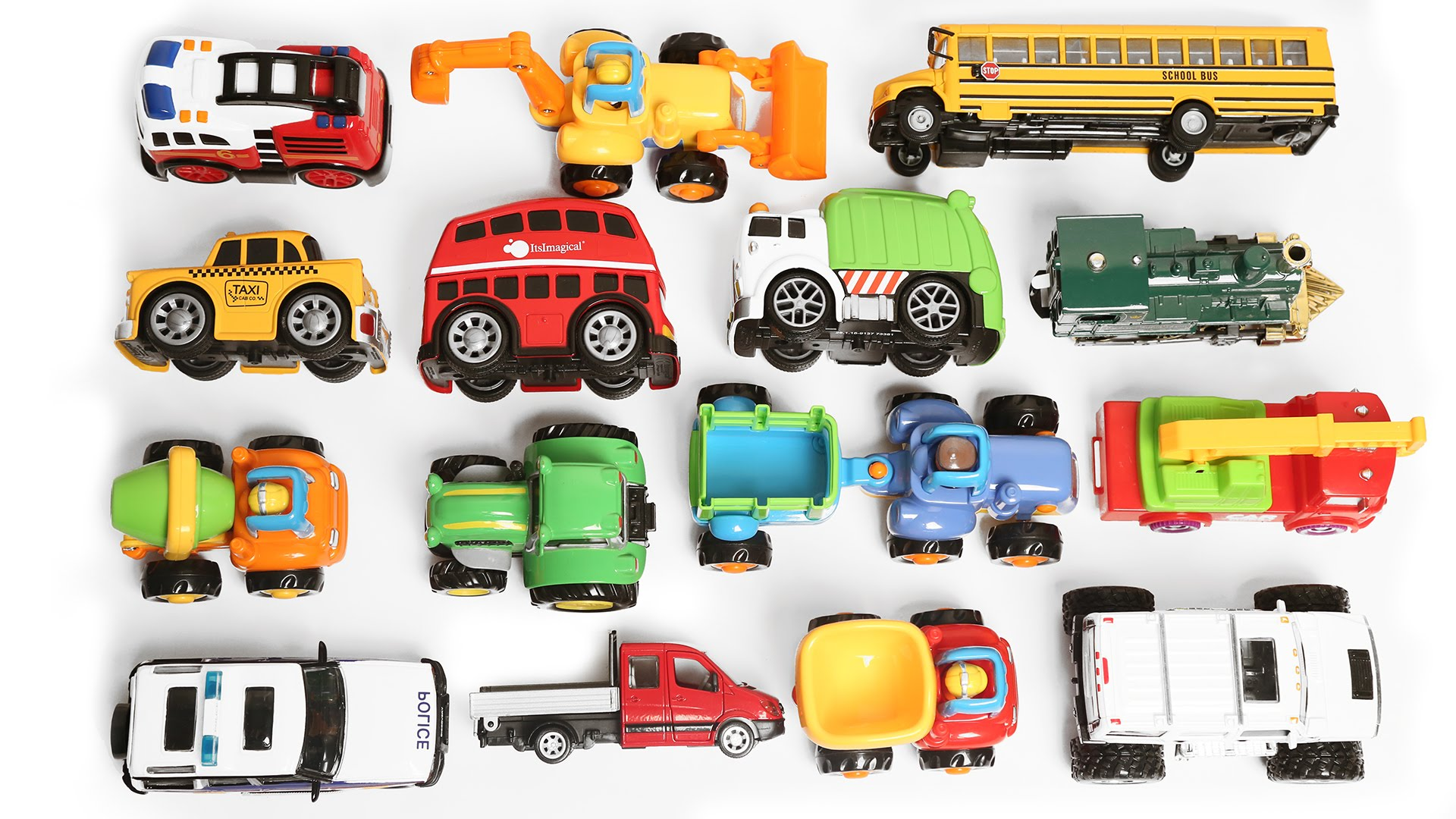 Learning Vehicles Names and Sounds for kids with toys Cars and ...