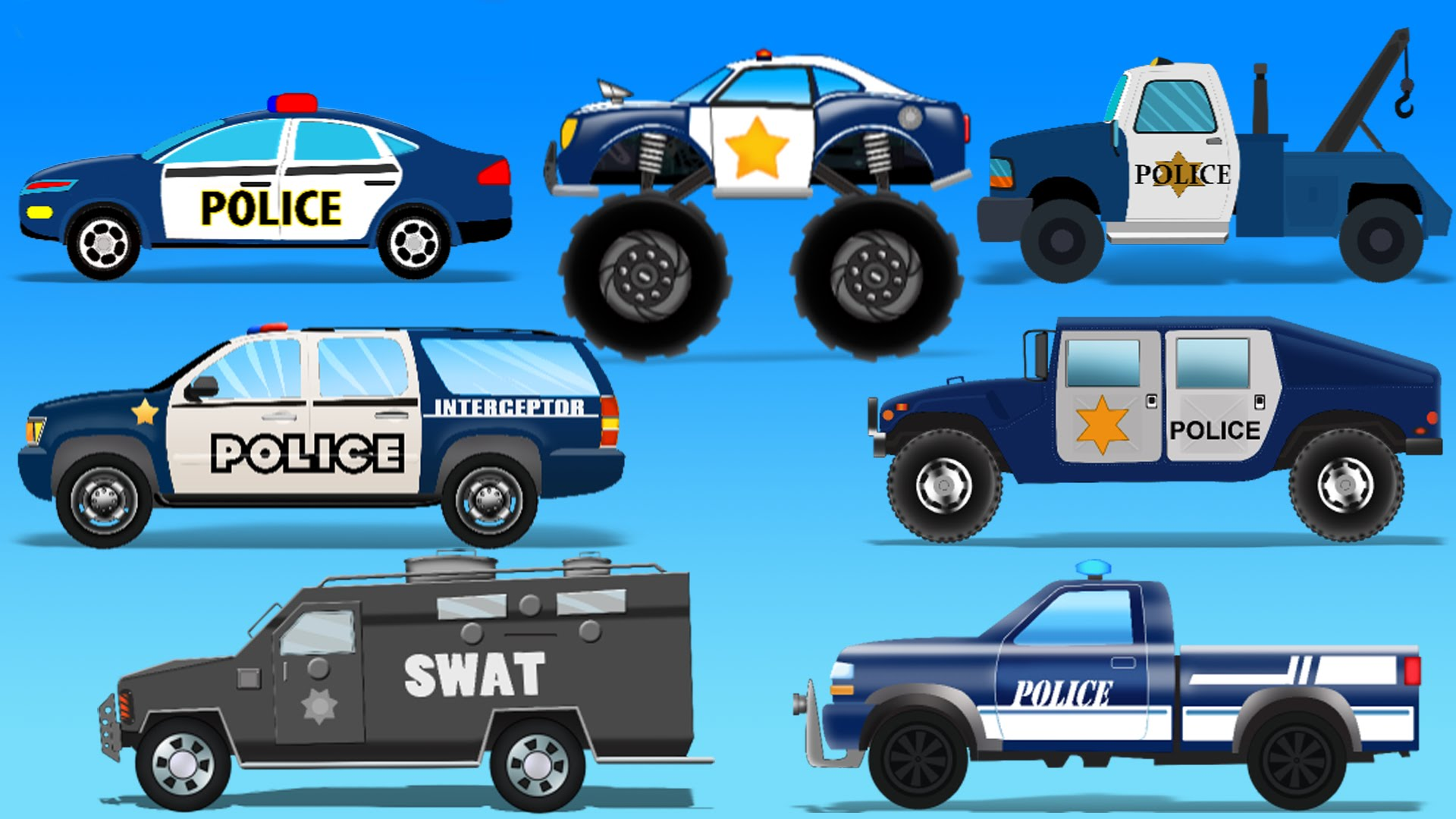 Street Vehicles | Police Cars | Toy Cars For Kids - YouTube
