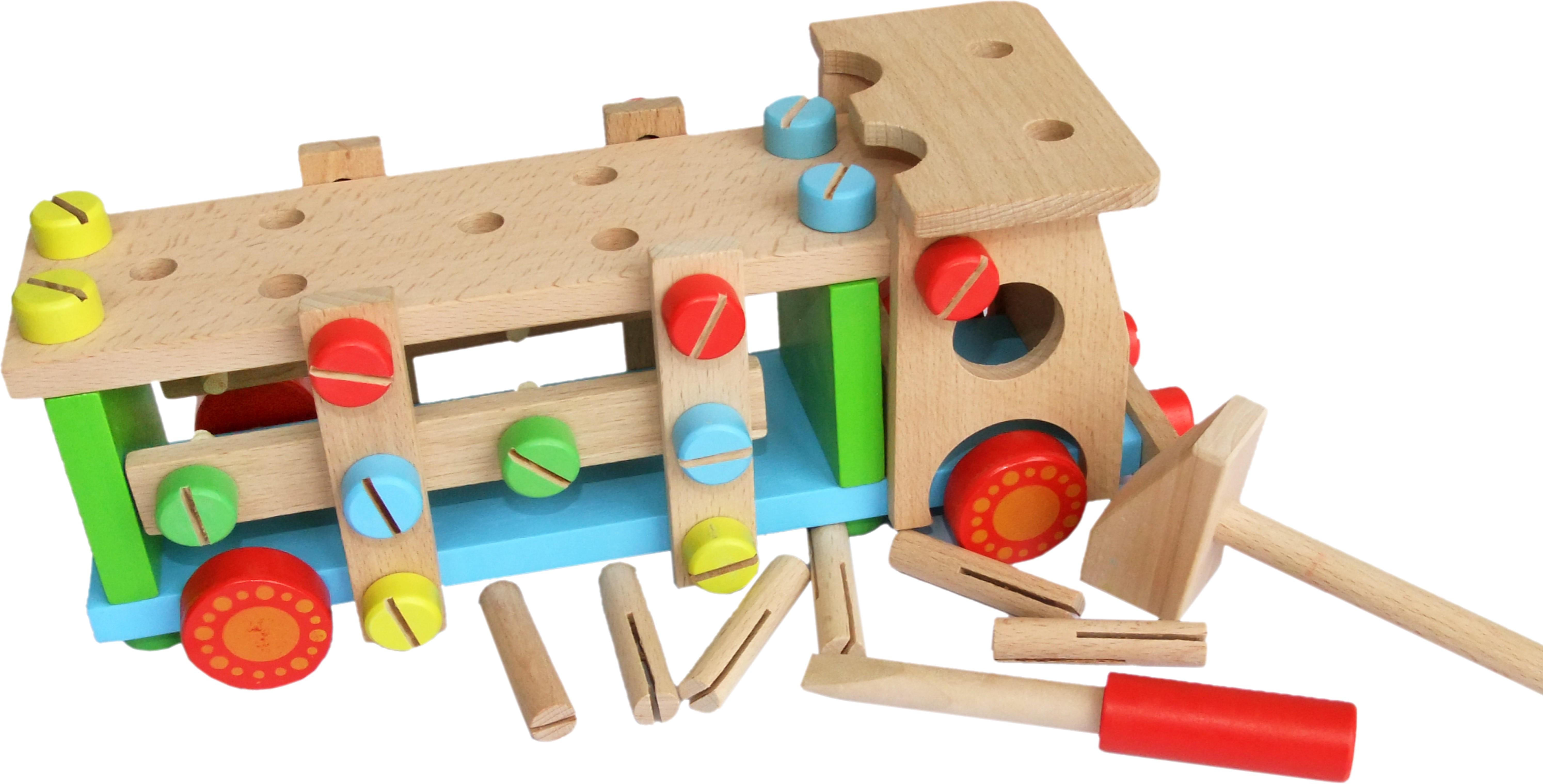 Wooden Take Apart Screw Truck | GLOPO Inc