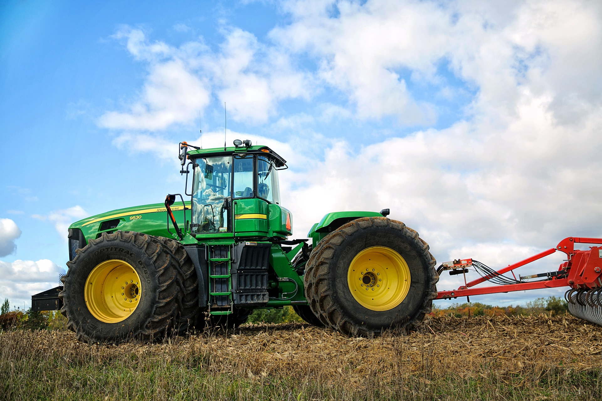 Tractor in the field photo