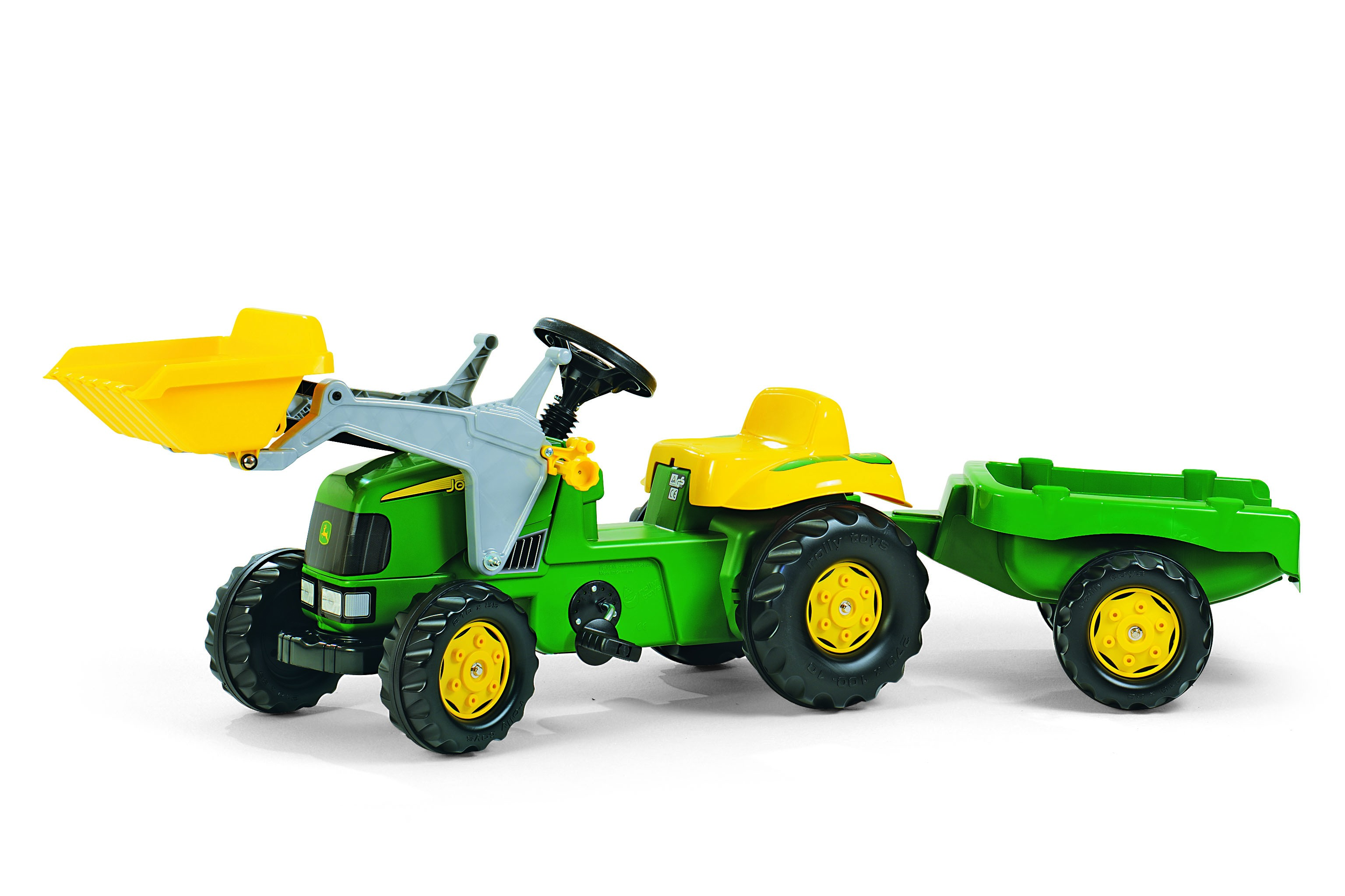 JOHN DEERE TOY TRACTOR WITH TRAILER & LOADER (CP023110)