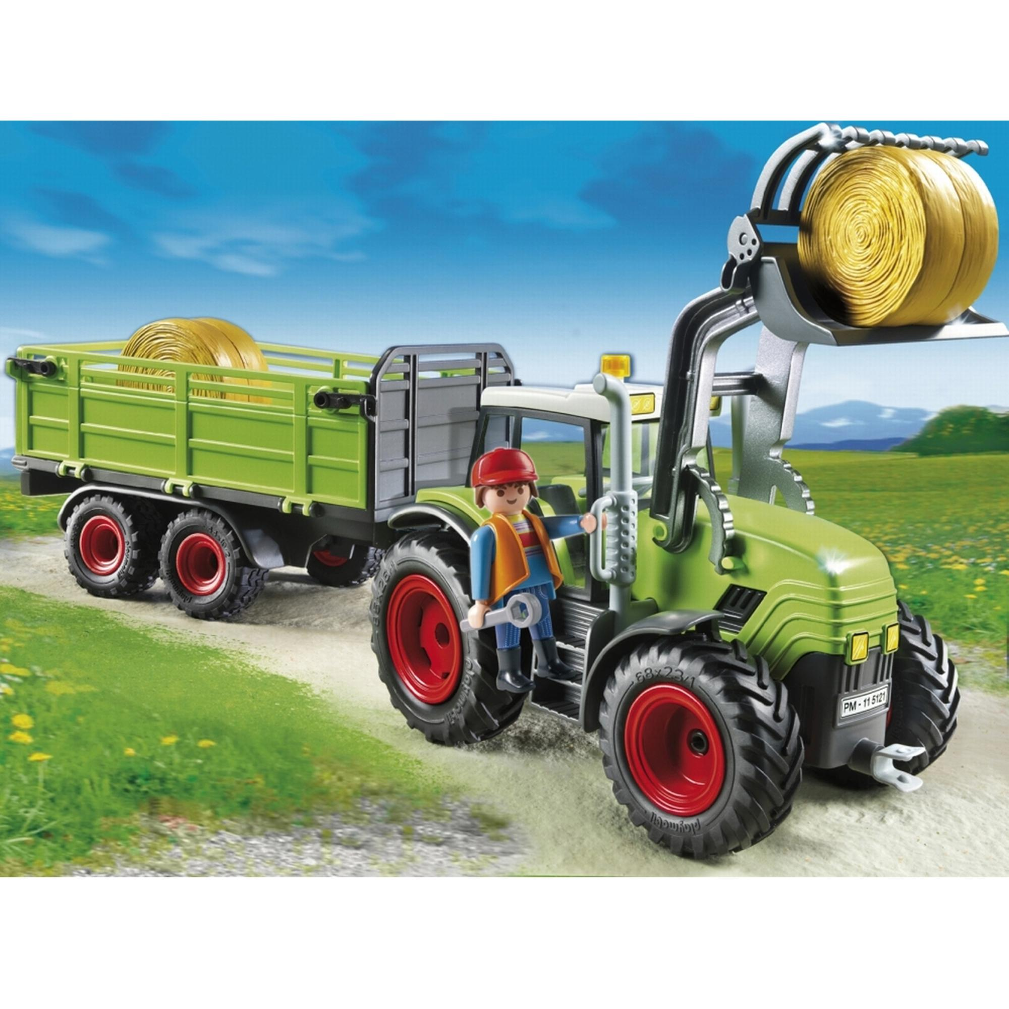 Playmobil Tractor With Trailer 5121 - £33.00 - Hamleys for Toys and ...