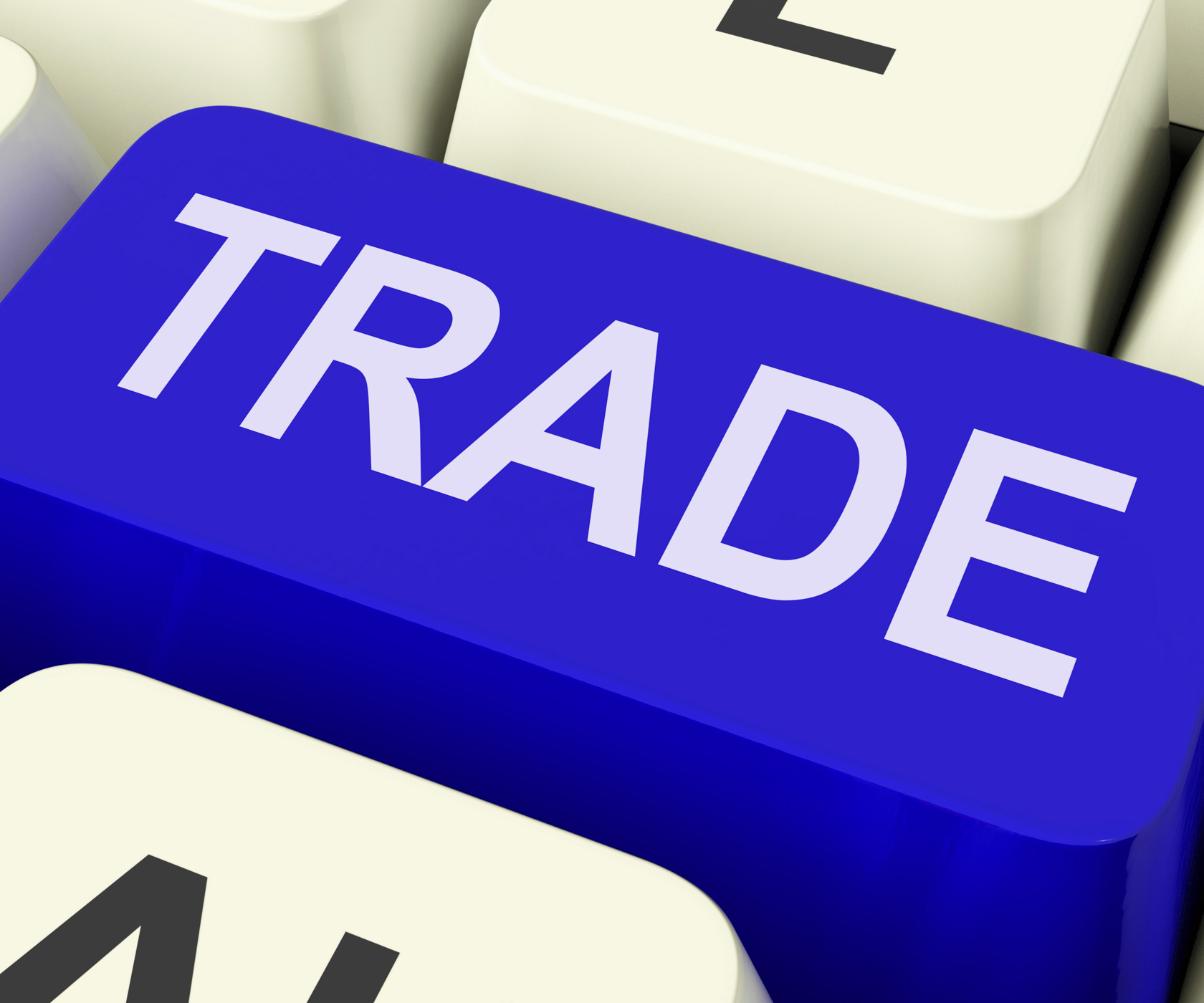 Trade key shows online buying and selling photo