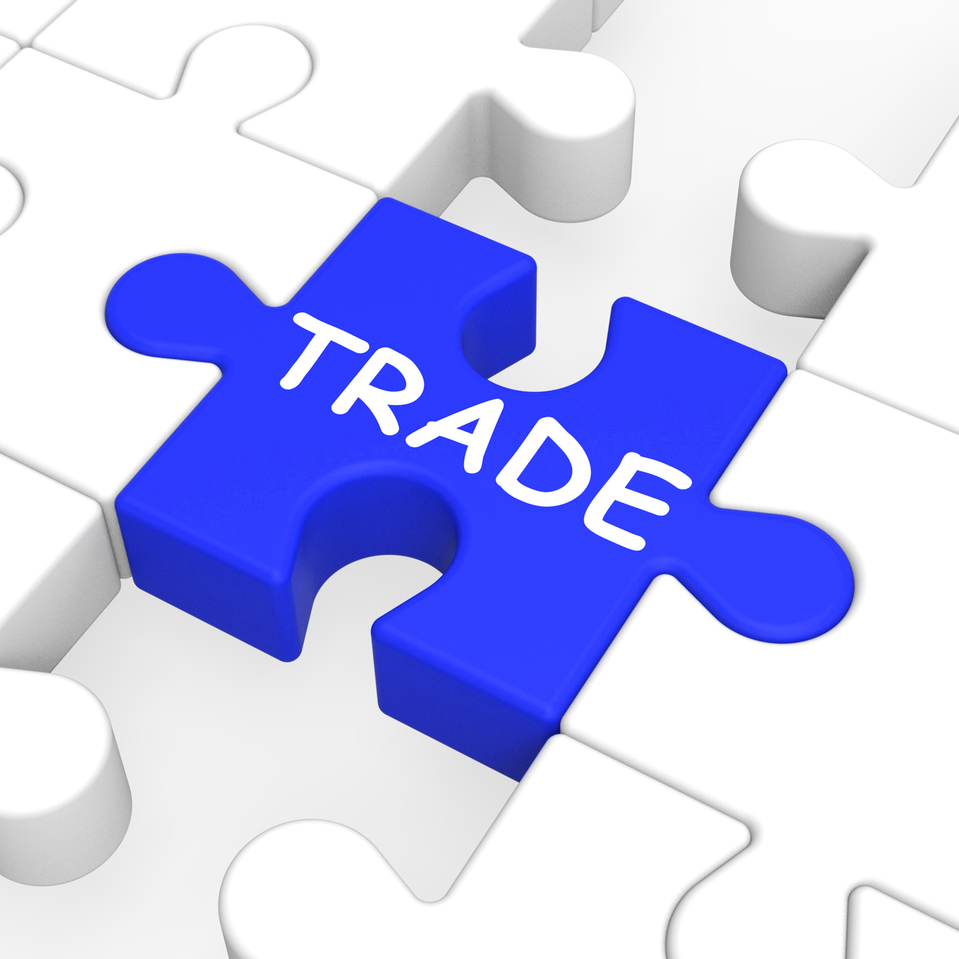 Trade puzzle shows exportation and importation photo
