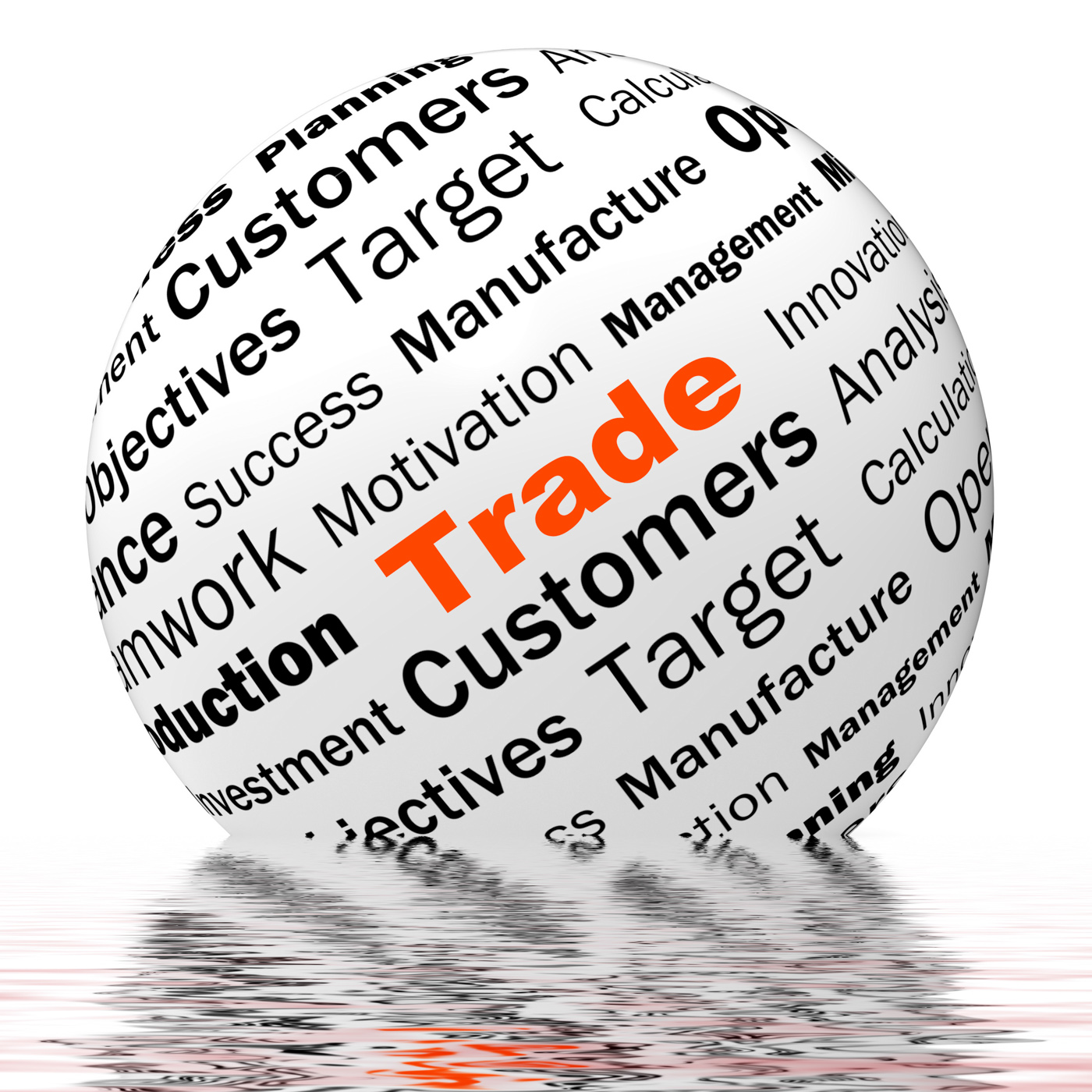 Trade sphere definition displays stock trading or sharing photo