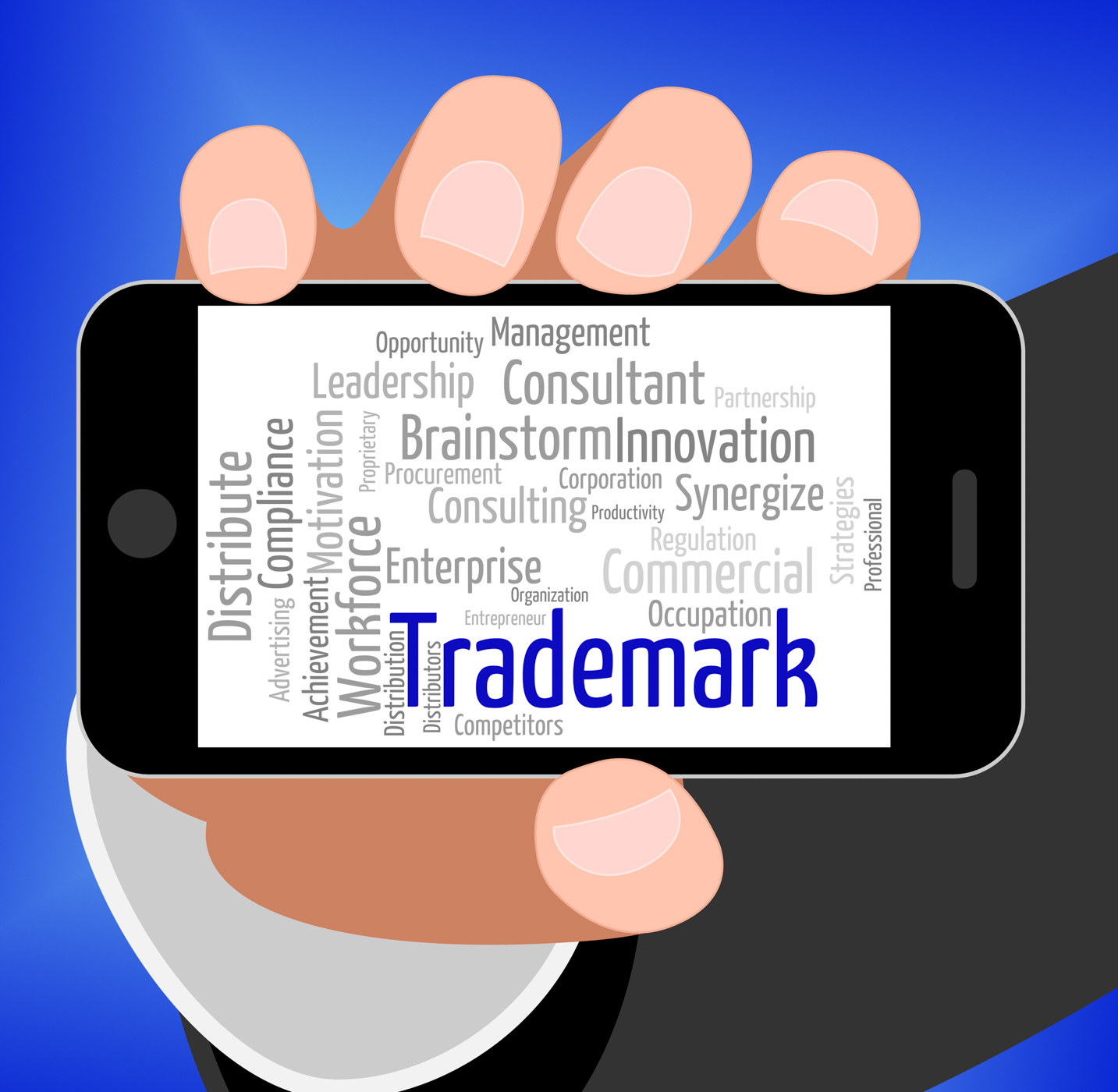 Trademark Word Shows Proprietary Name And Hallmark, Brandname, Stamp, Wordclouds, Wordcloud, HQ Photo