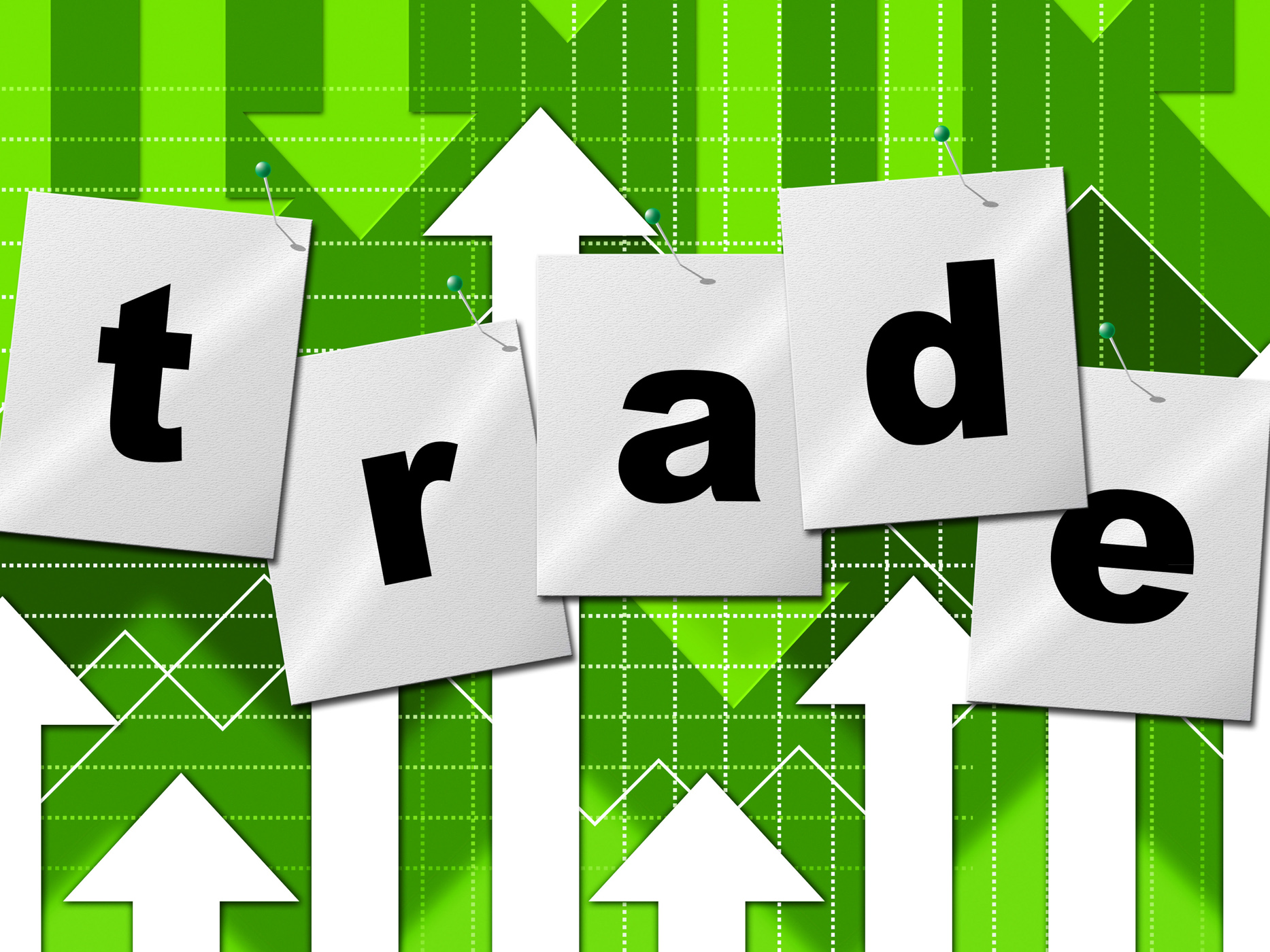Trading trade means selling import and buying photo