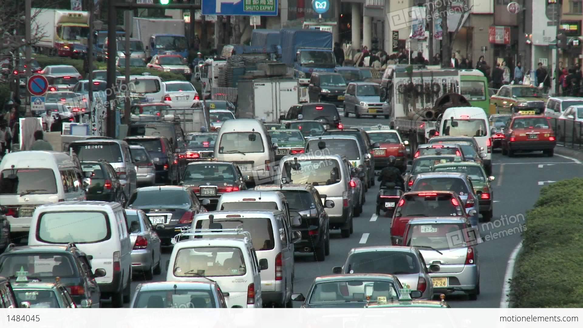 Rush Hour Traffic Jam In Shibuya, Tokyo, Japan Stock video footage ...