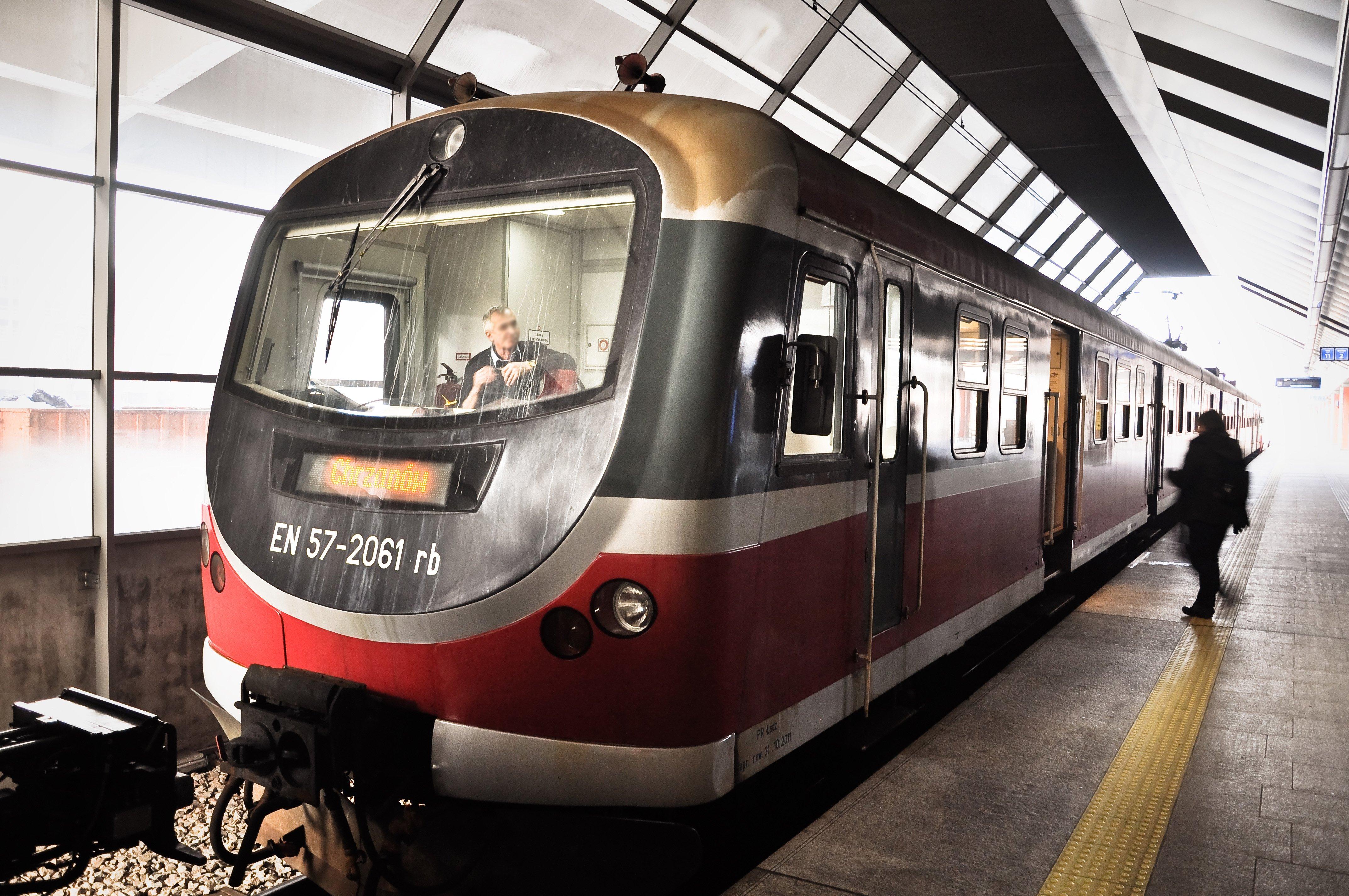 Train at kraków railway station (dworzec główny) photo