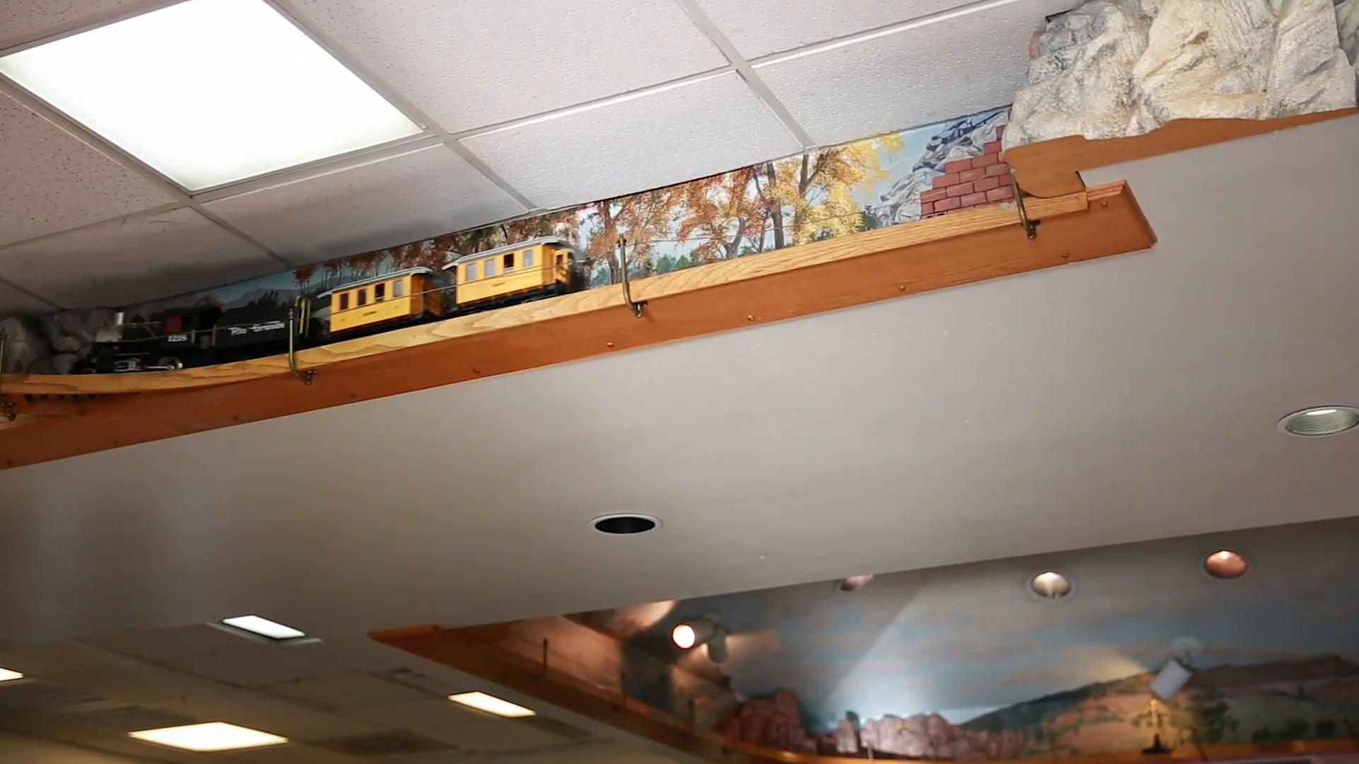 Train Ceiling Brown Gl