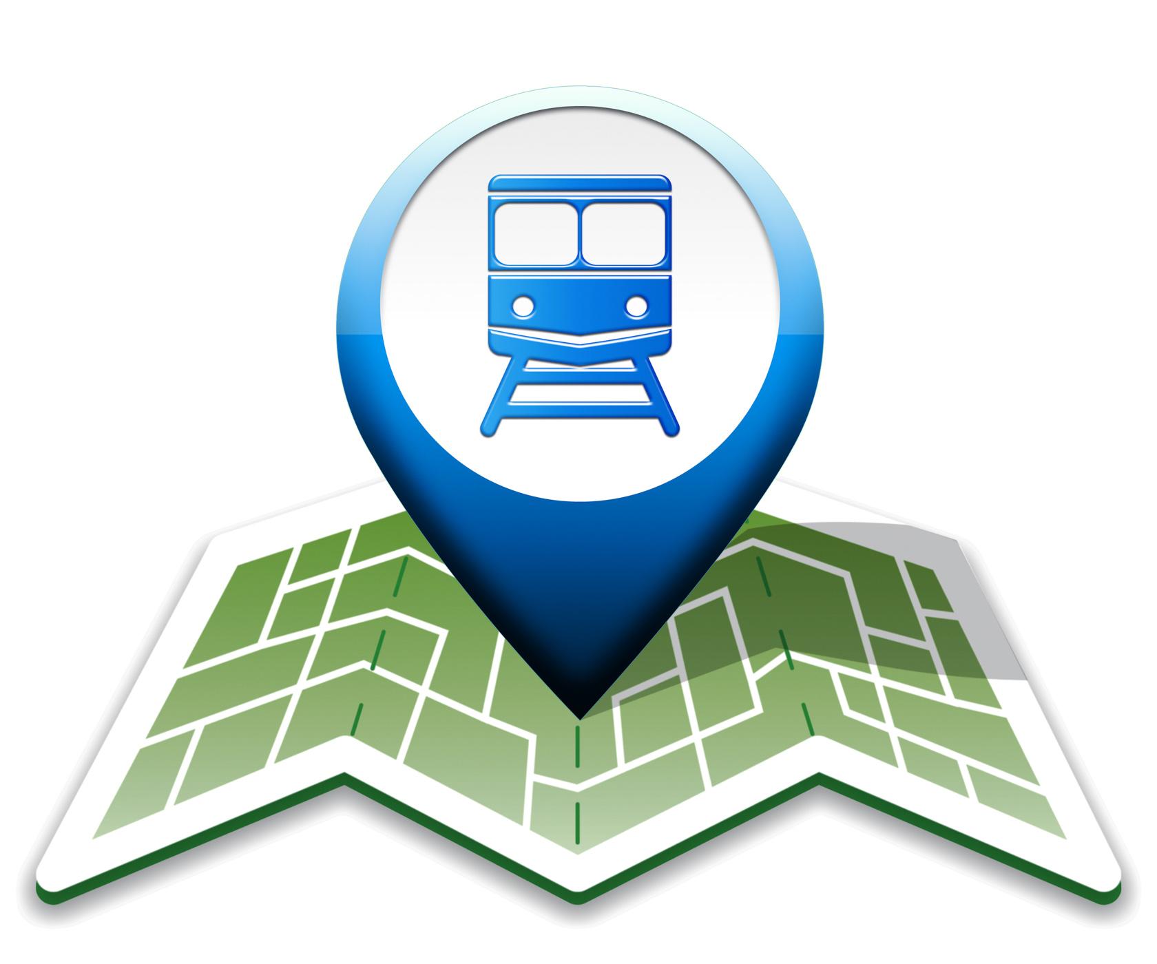 Train map indicates intercity journey 3d illustration photo