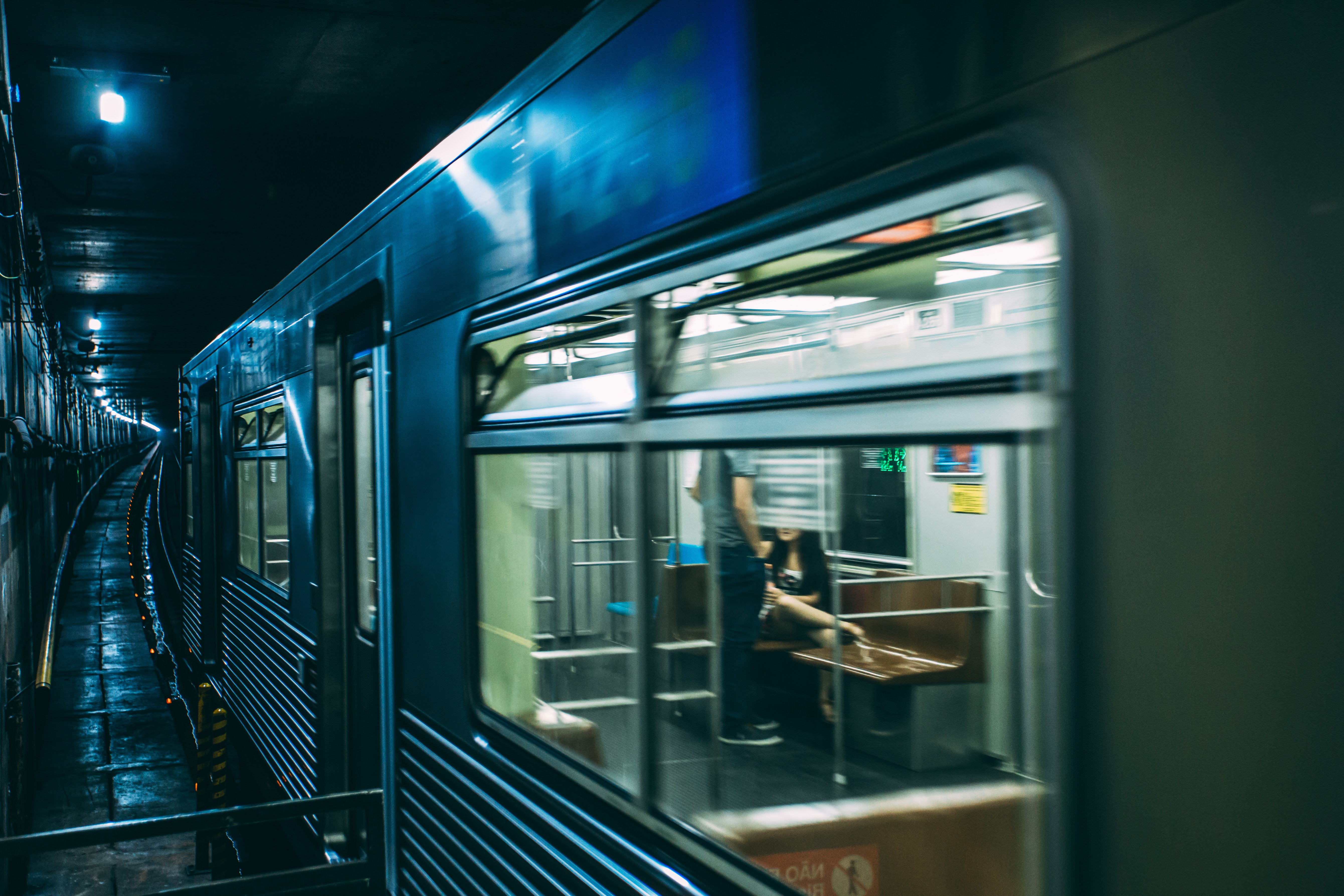 Train on Tunnel, Commute, Subway, Underground, Traveler, HQ Photo