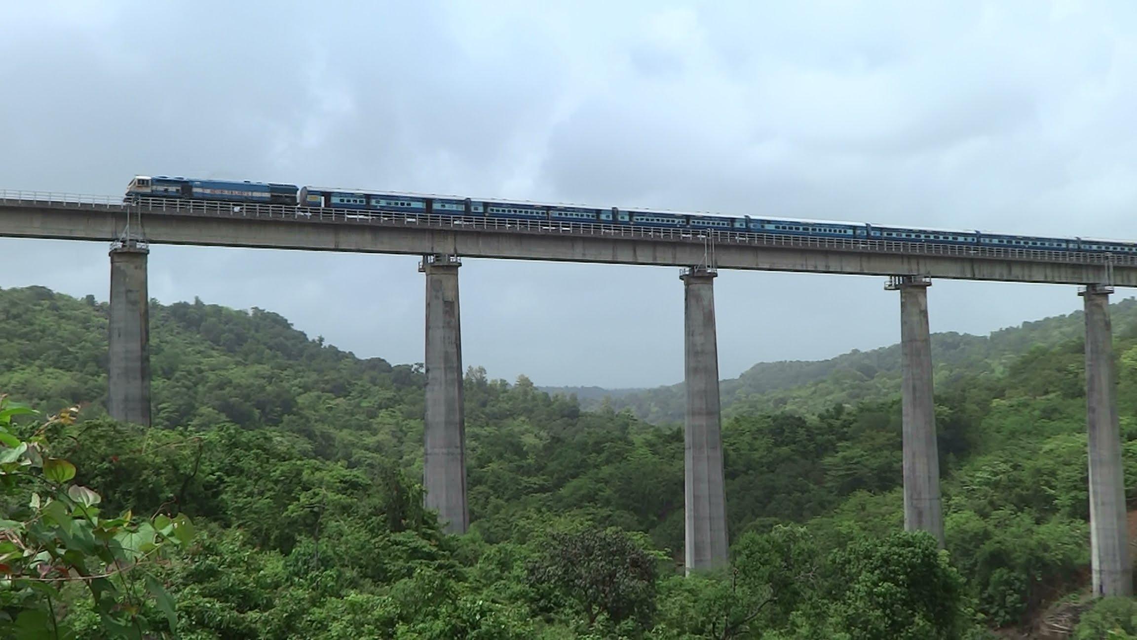Train railway bridge photo