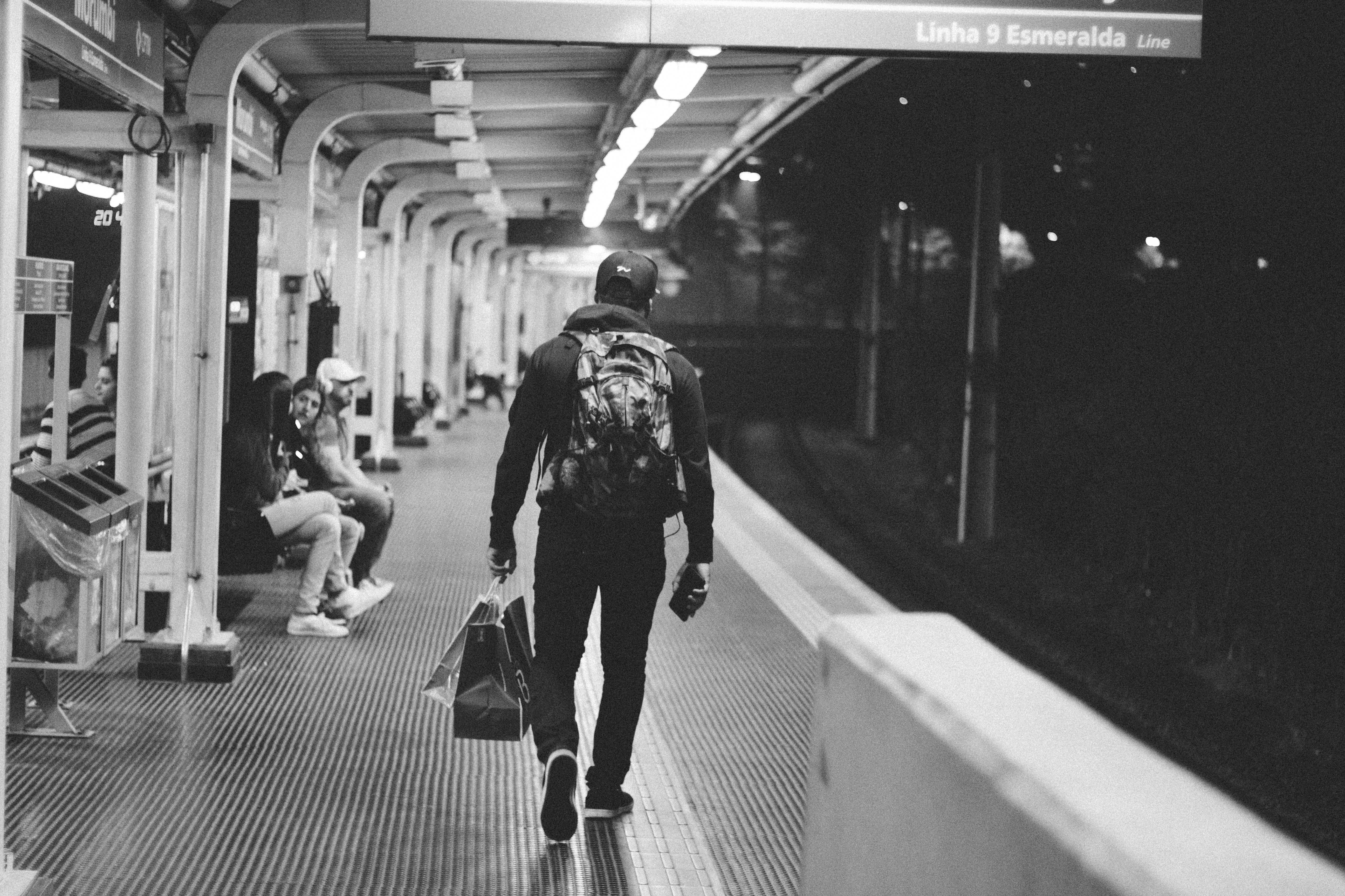 Train Station, Train, Walk, Walking, Subway, HQ Photo