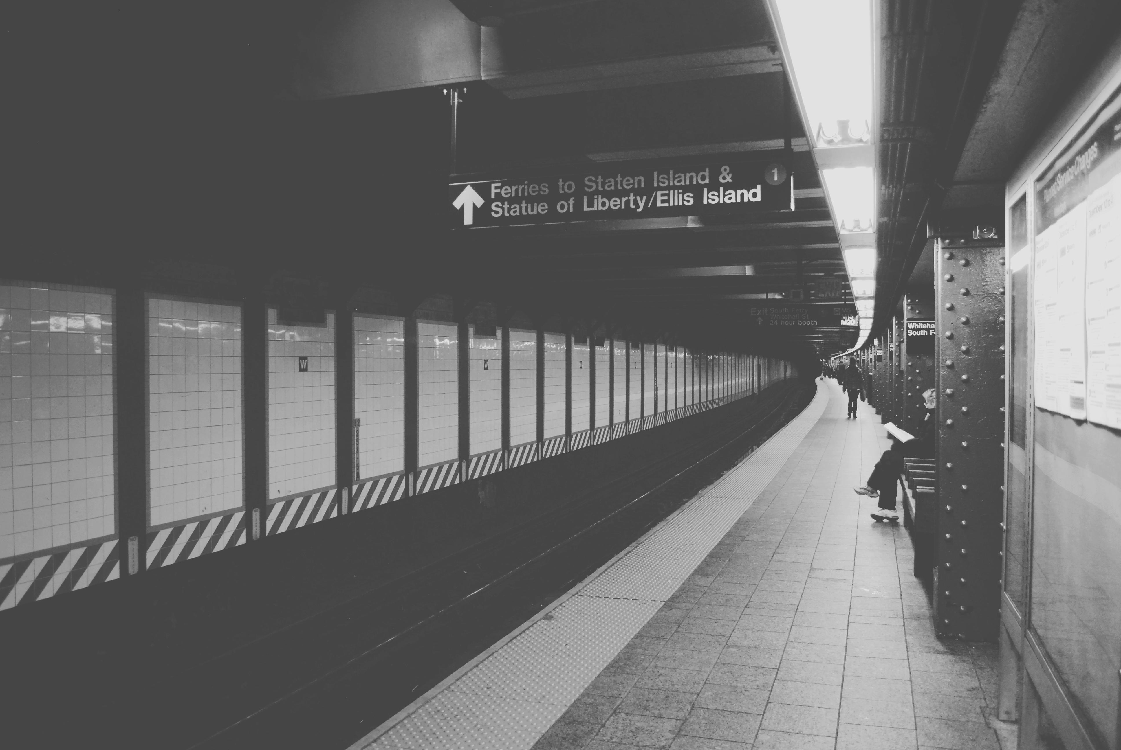 Train Station, Train, Subway, People, Light, HQ Photo
