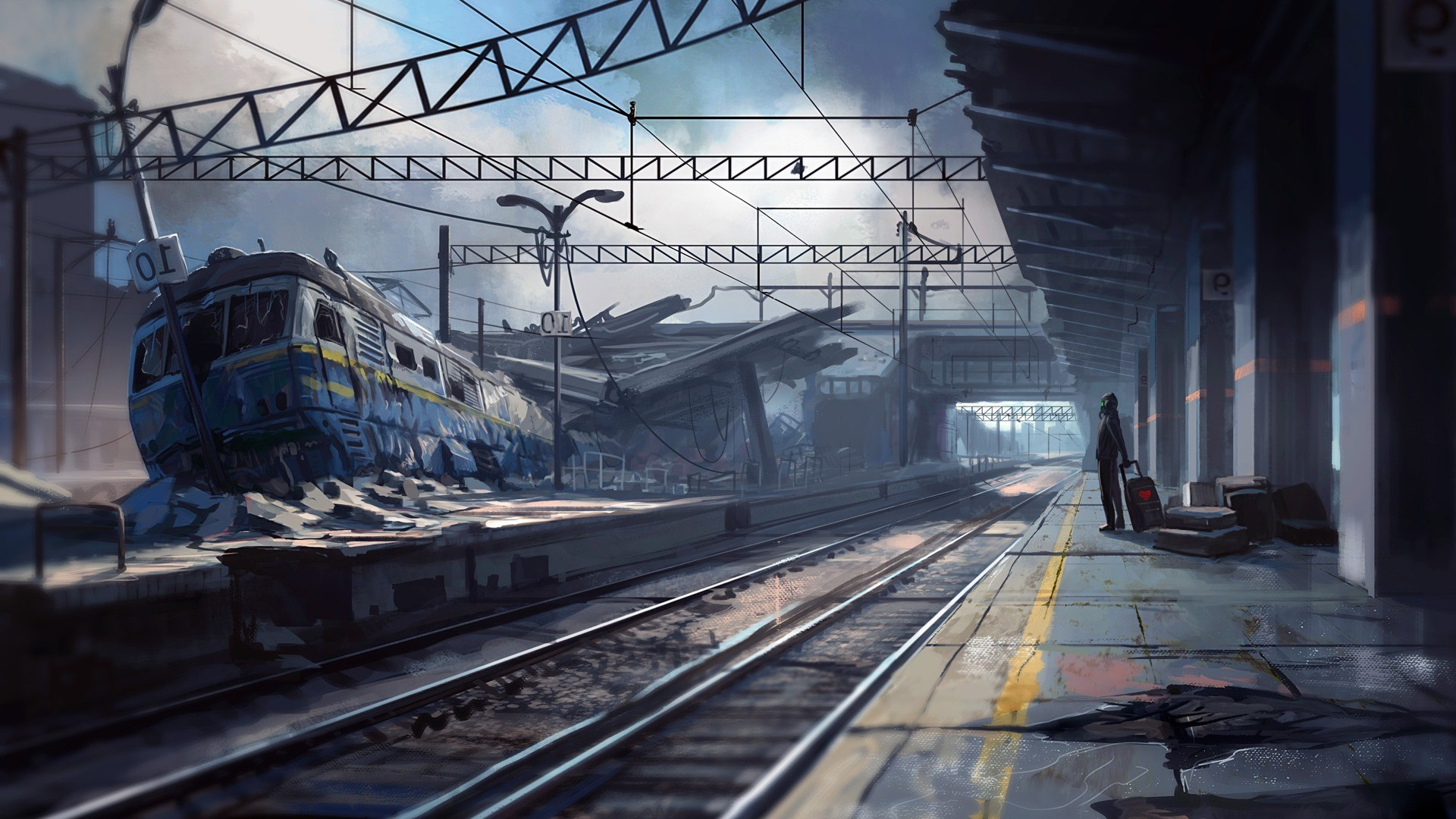 artwork, Fantasy Art, Apocalyptic, Train Station, Train Wallpapers ...