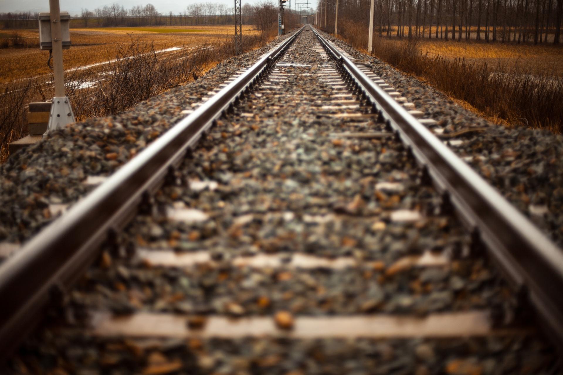 Train tracks photo