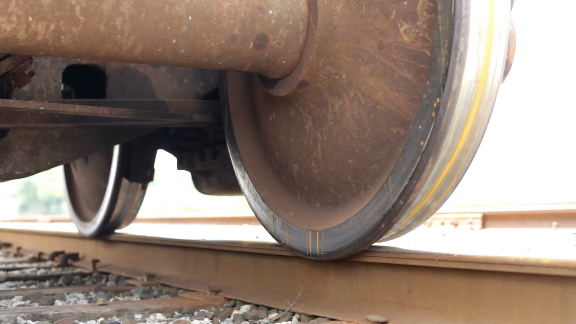 Train Wheel on Track slider shot Stock Video Footage - Videoblocks