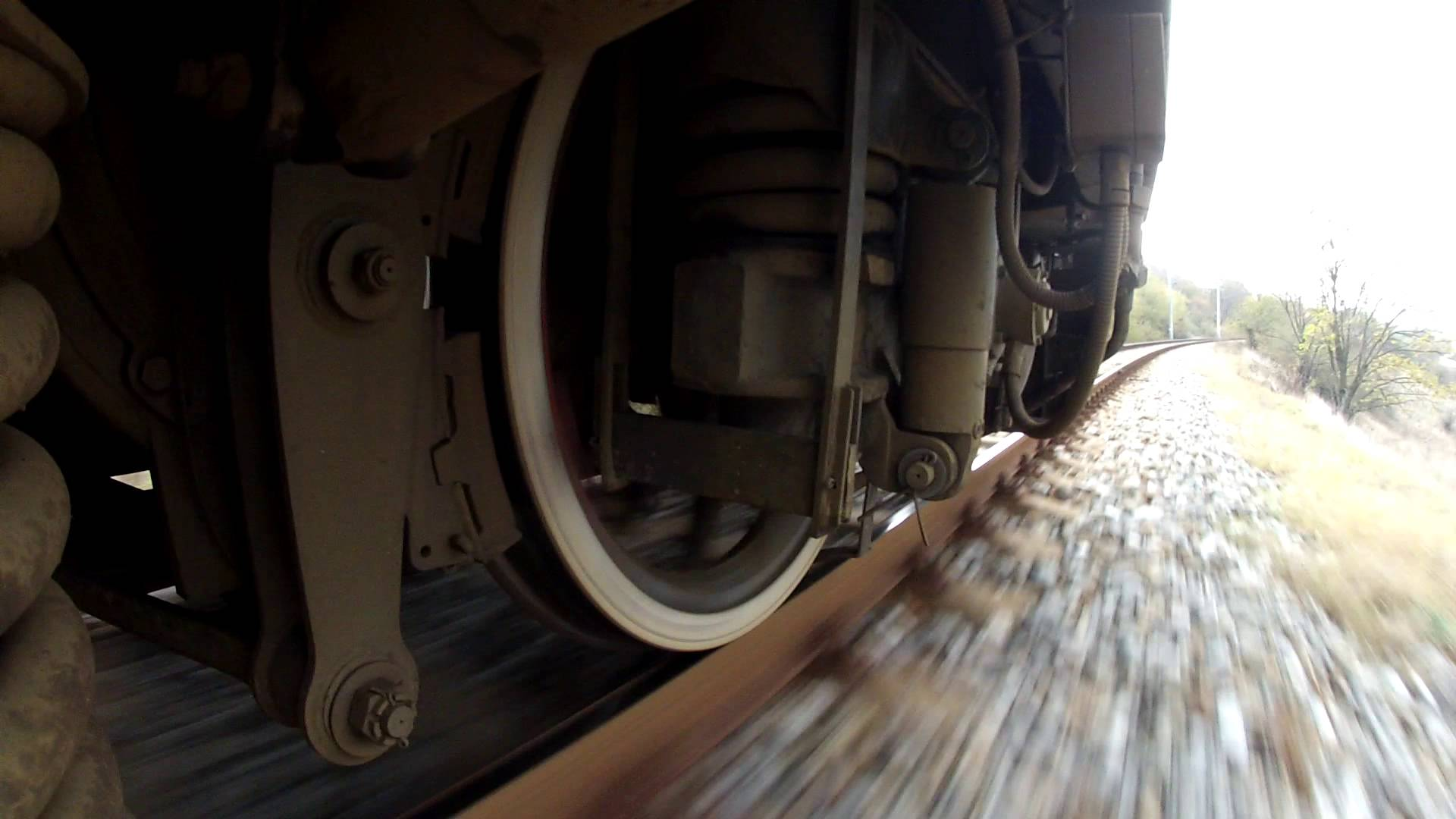 A train wheel running on a jointed track - YouTube