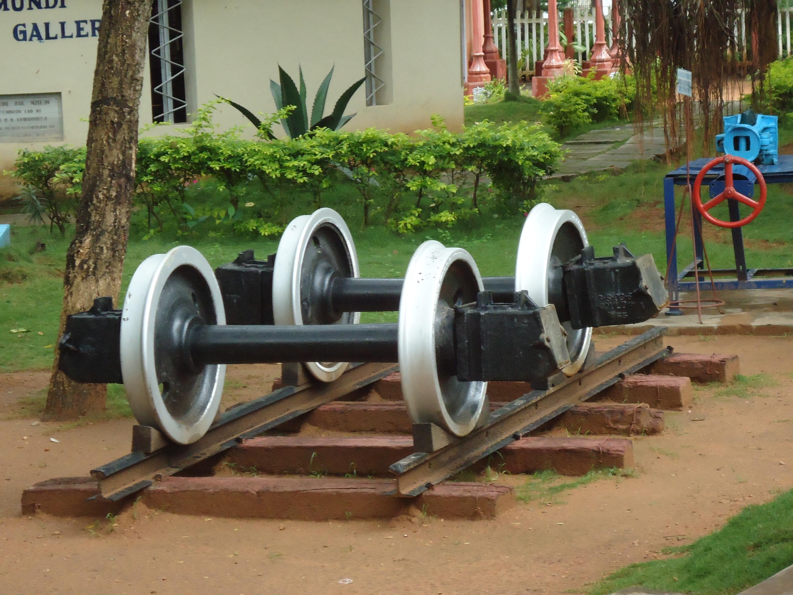 File:Mysore Rail Museum Train Wheels.JPG - Wikimedia Commons