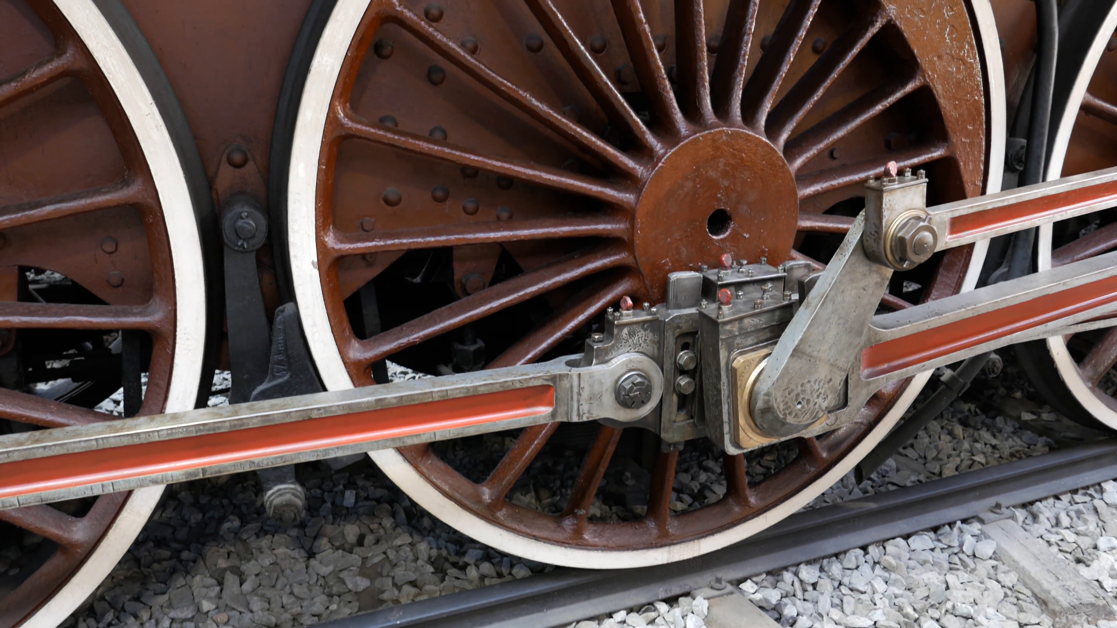 Huge metal wheel of an old train Stock Video Footage - Videoblocks