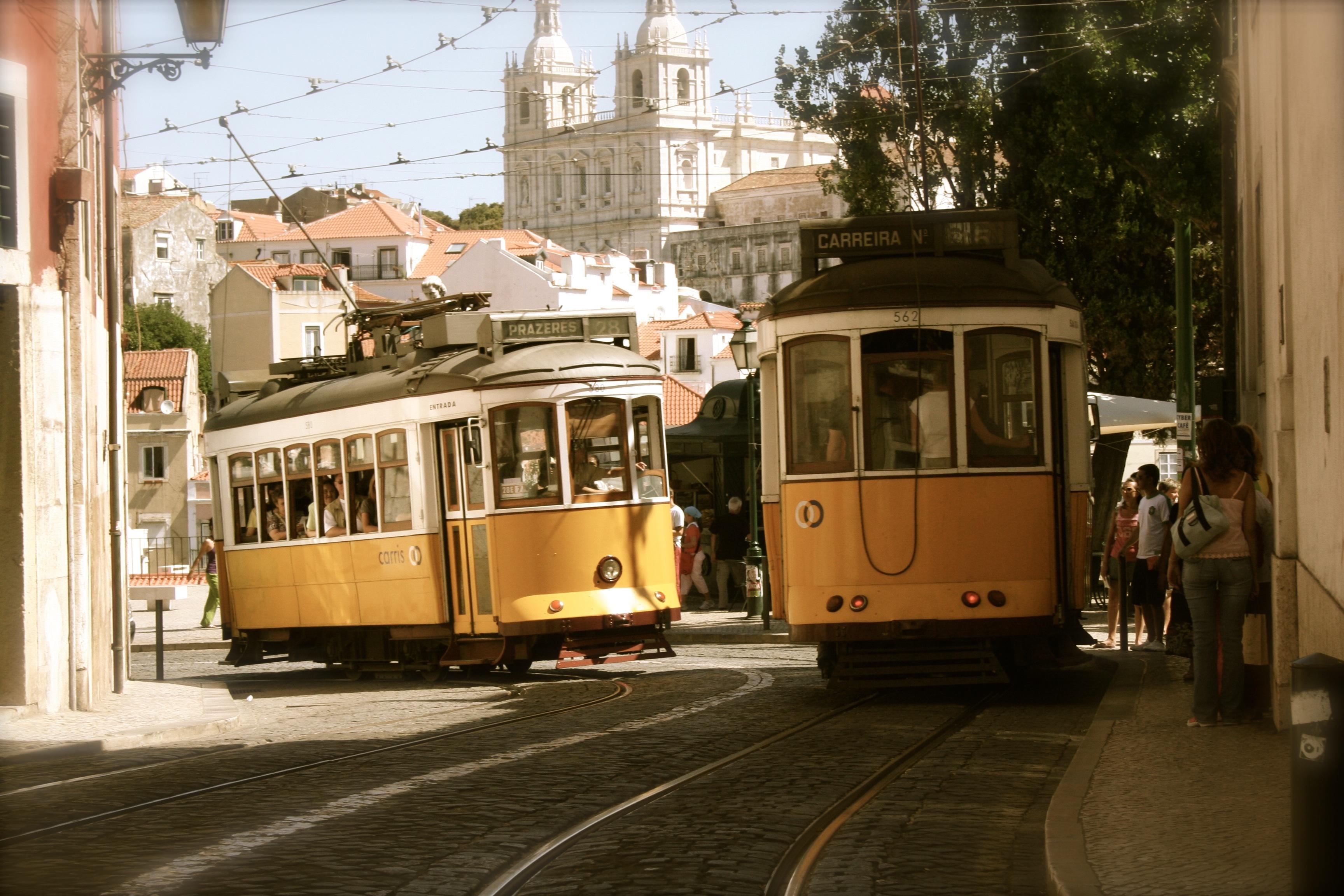 Tram, City, Path, Pathway, Rail, HQ Photo