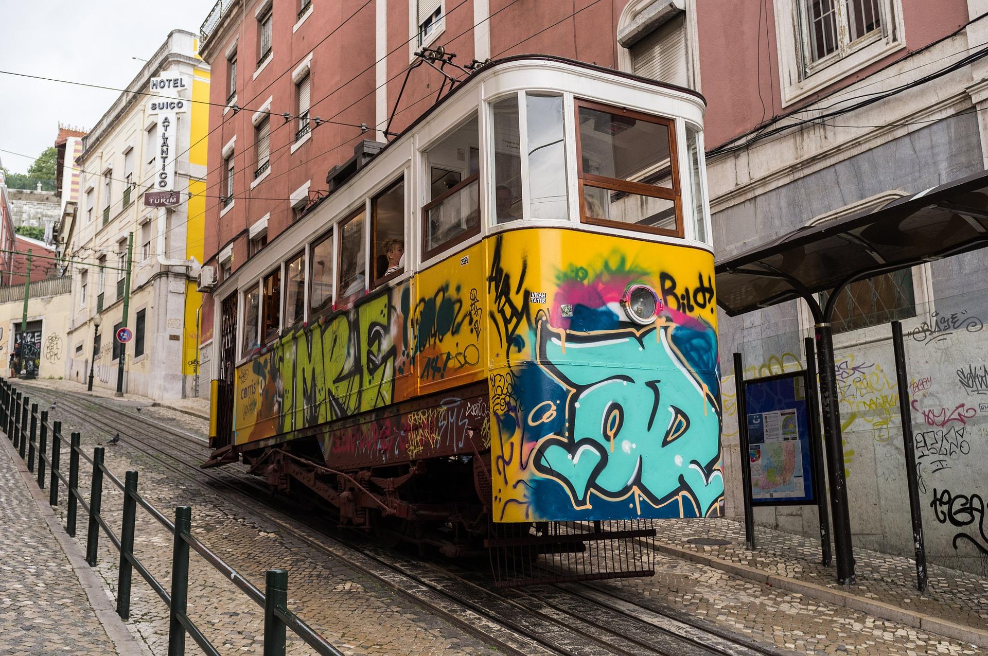 Tram track photo